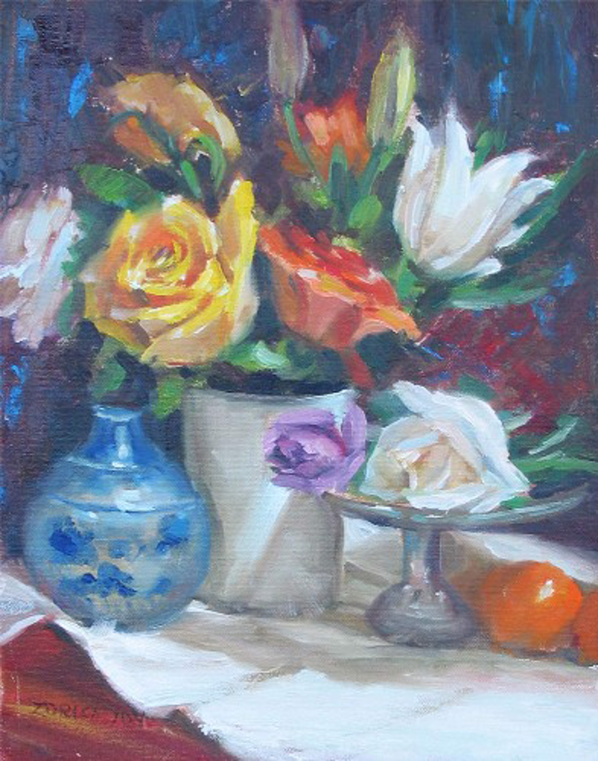 FLOWERS AND ORANGES by JOY