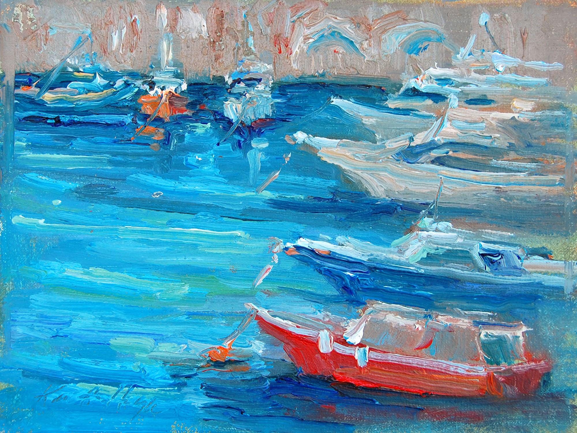 Red Boat in Amalfi by Karen Hewitt Hagan