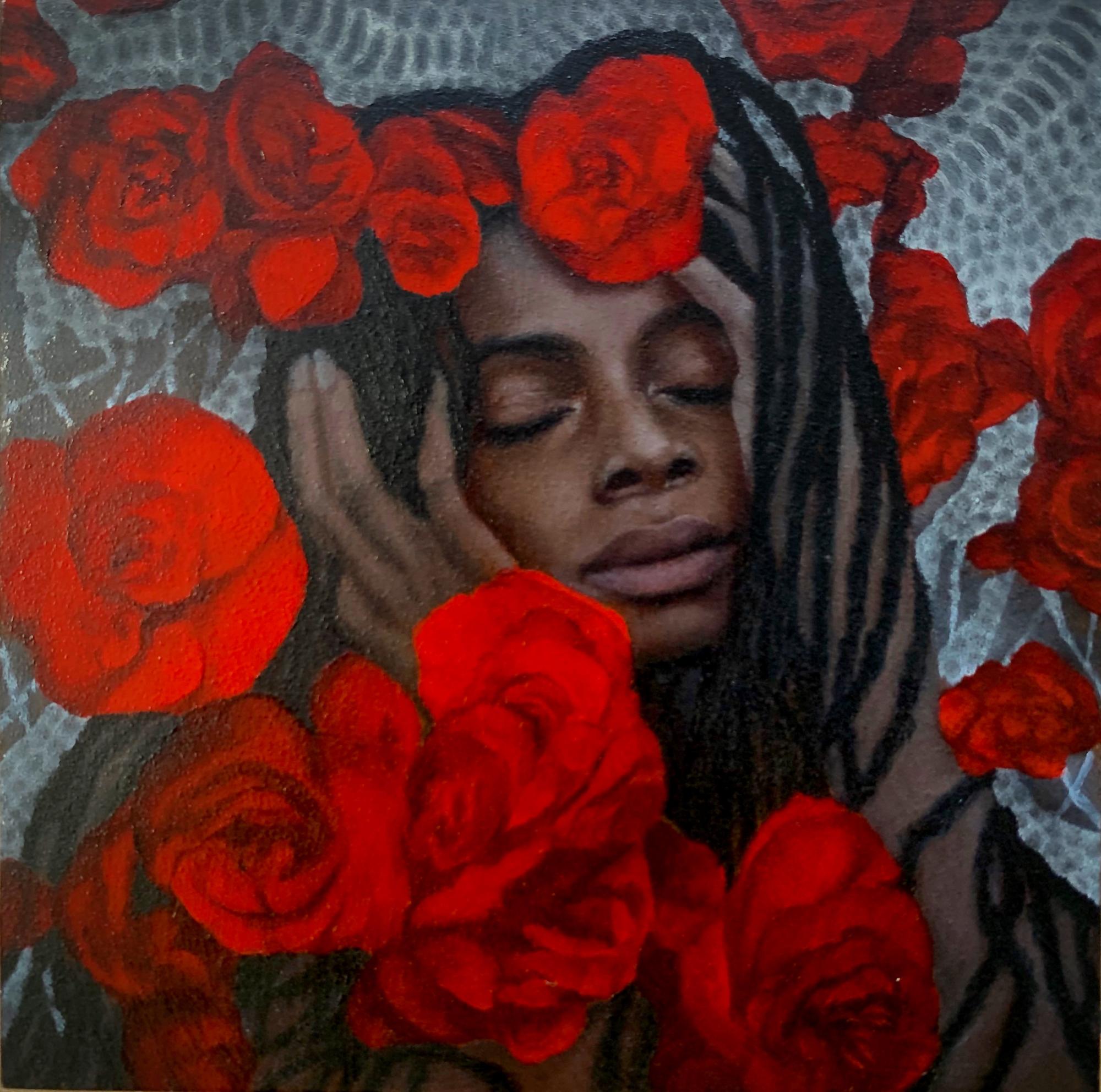 Scarlet Begonias by Genevieve May