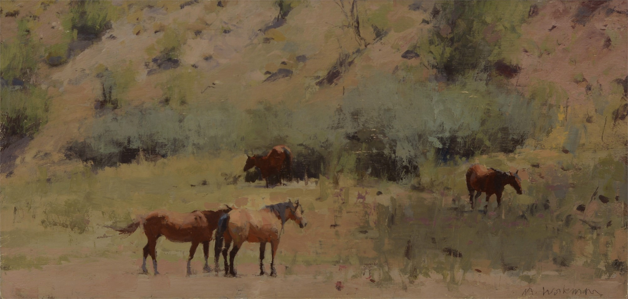 Four Summer Horses by Michael Workman