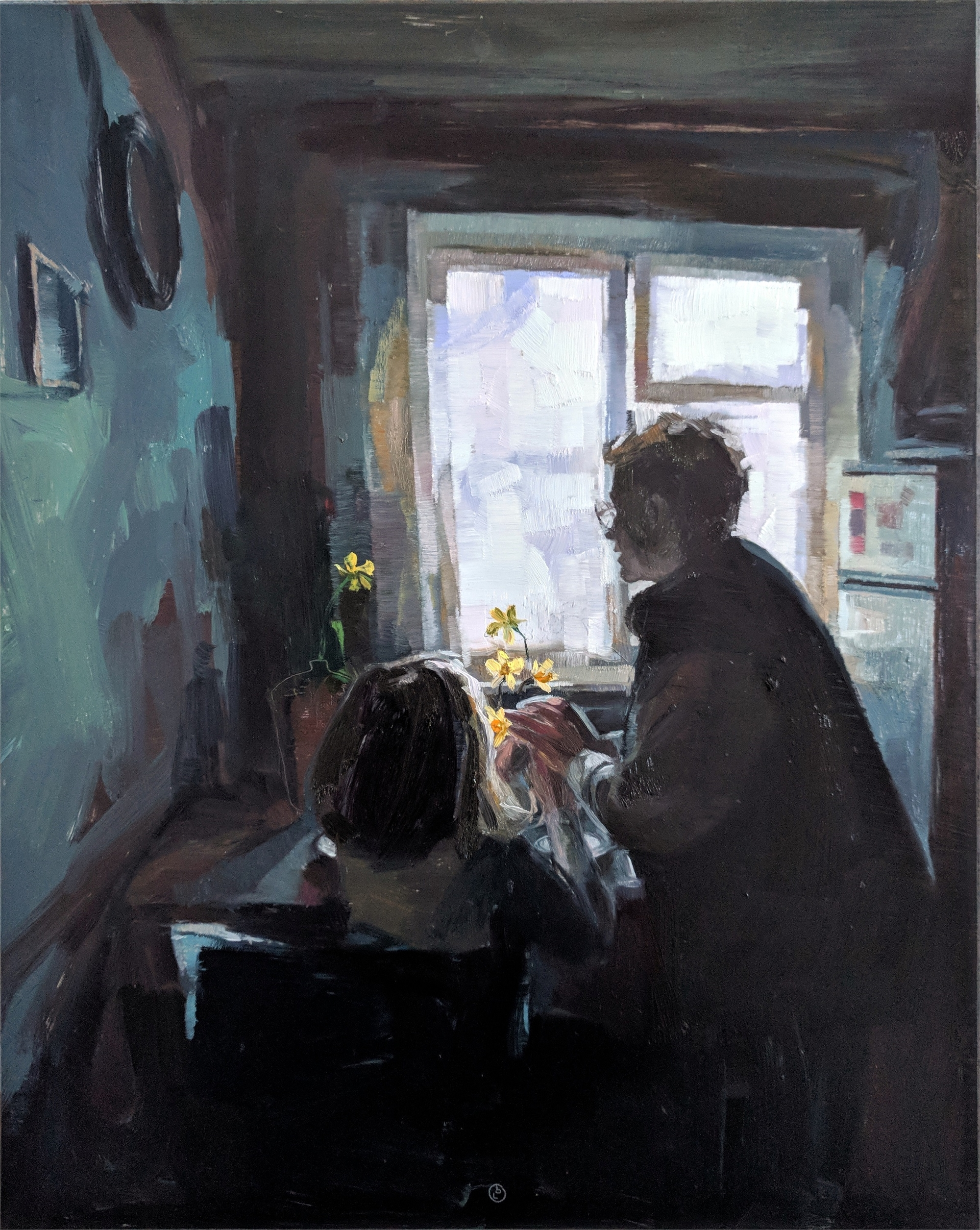 Visiting Grandma by Elena Burykina