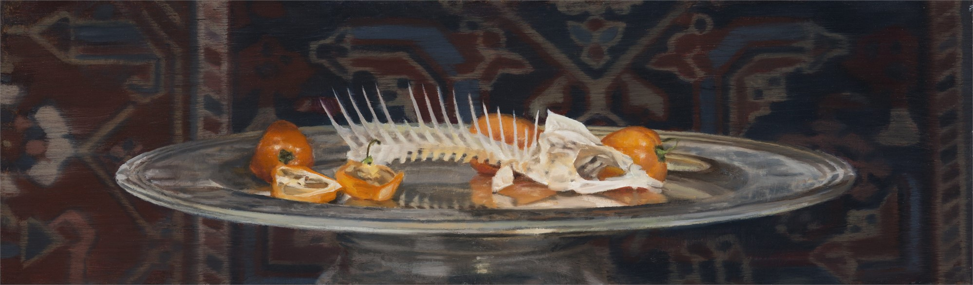 Fish Skeleton and Habaneros by Gregory Block
