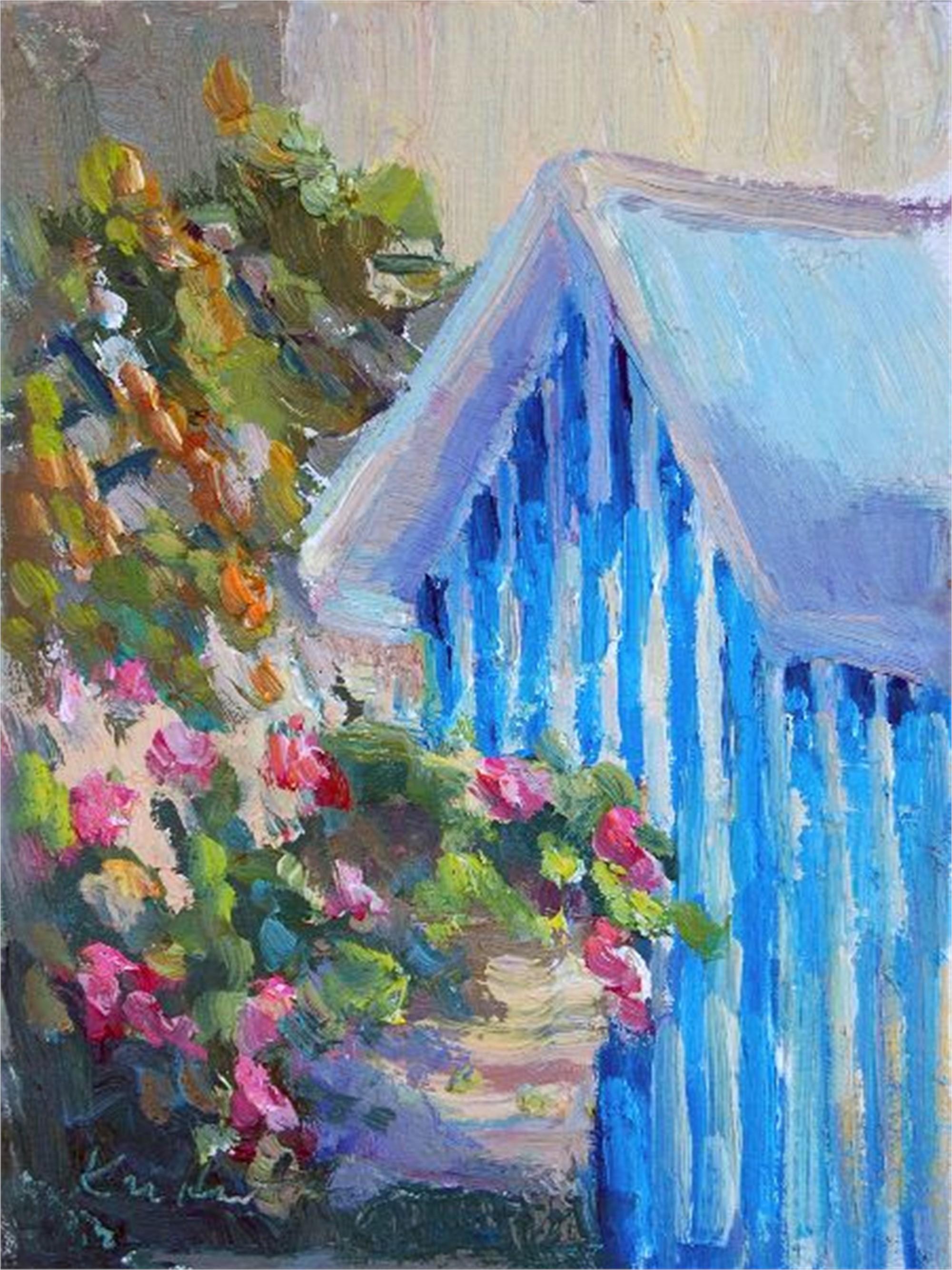 Blue Stripes, Amalfi by Karen Hewitt Hagan
