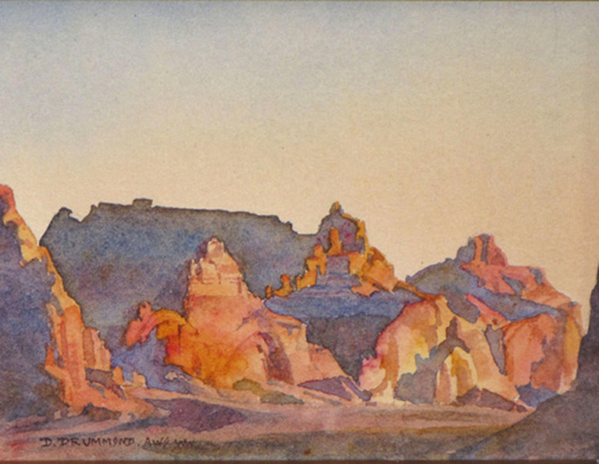 Sunset Near Boundary Butte by David Drummond