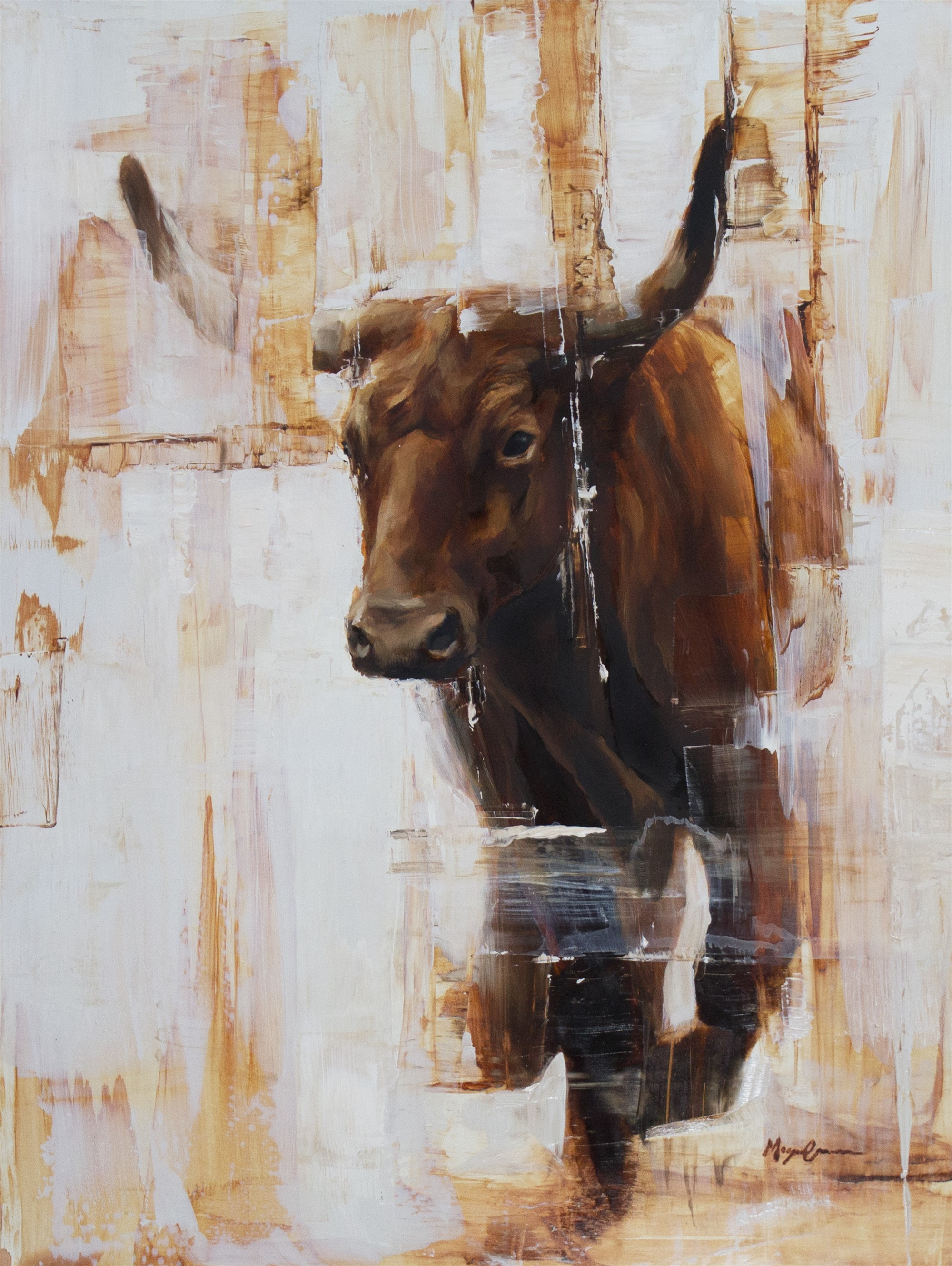 Red Steer by Morgan Cameron