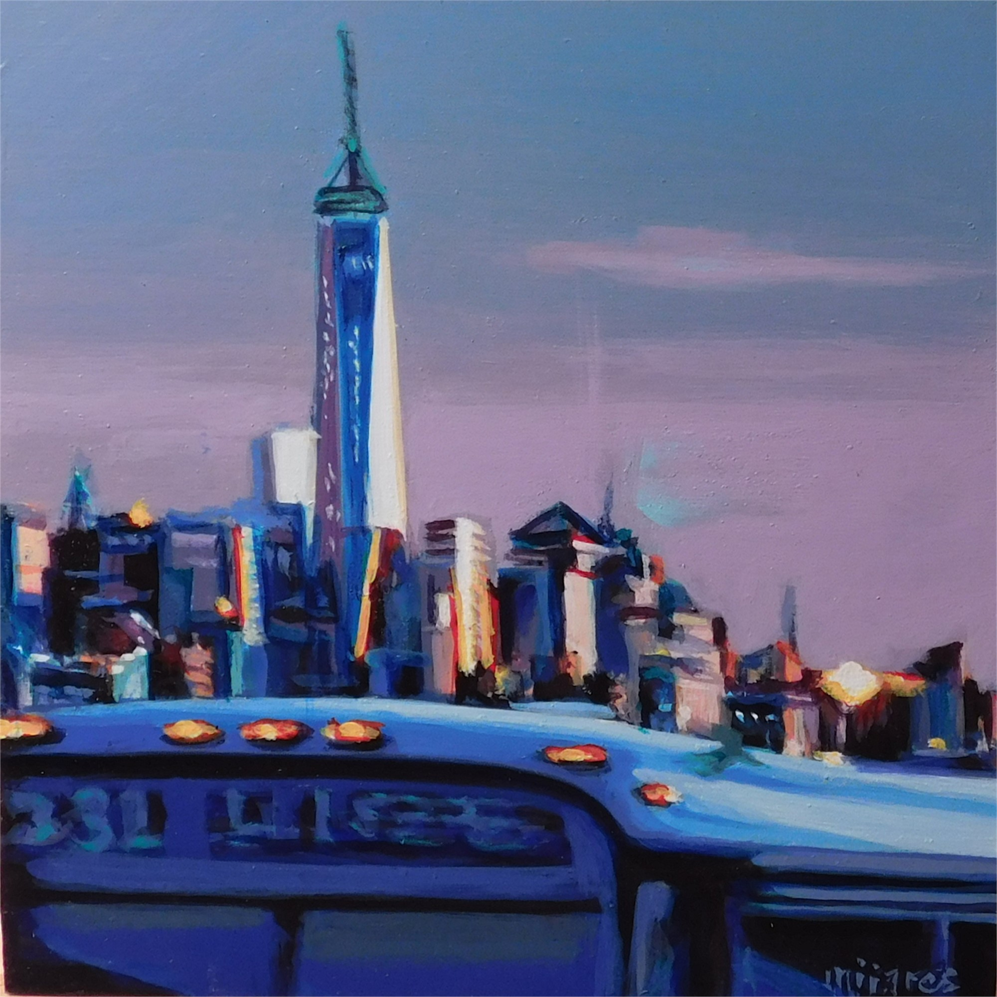 Freedom Tower (Blue) by Maria Mijares