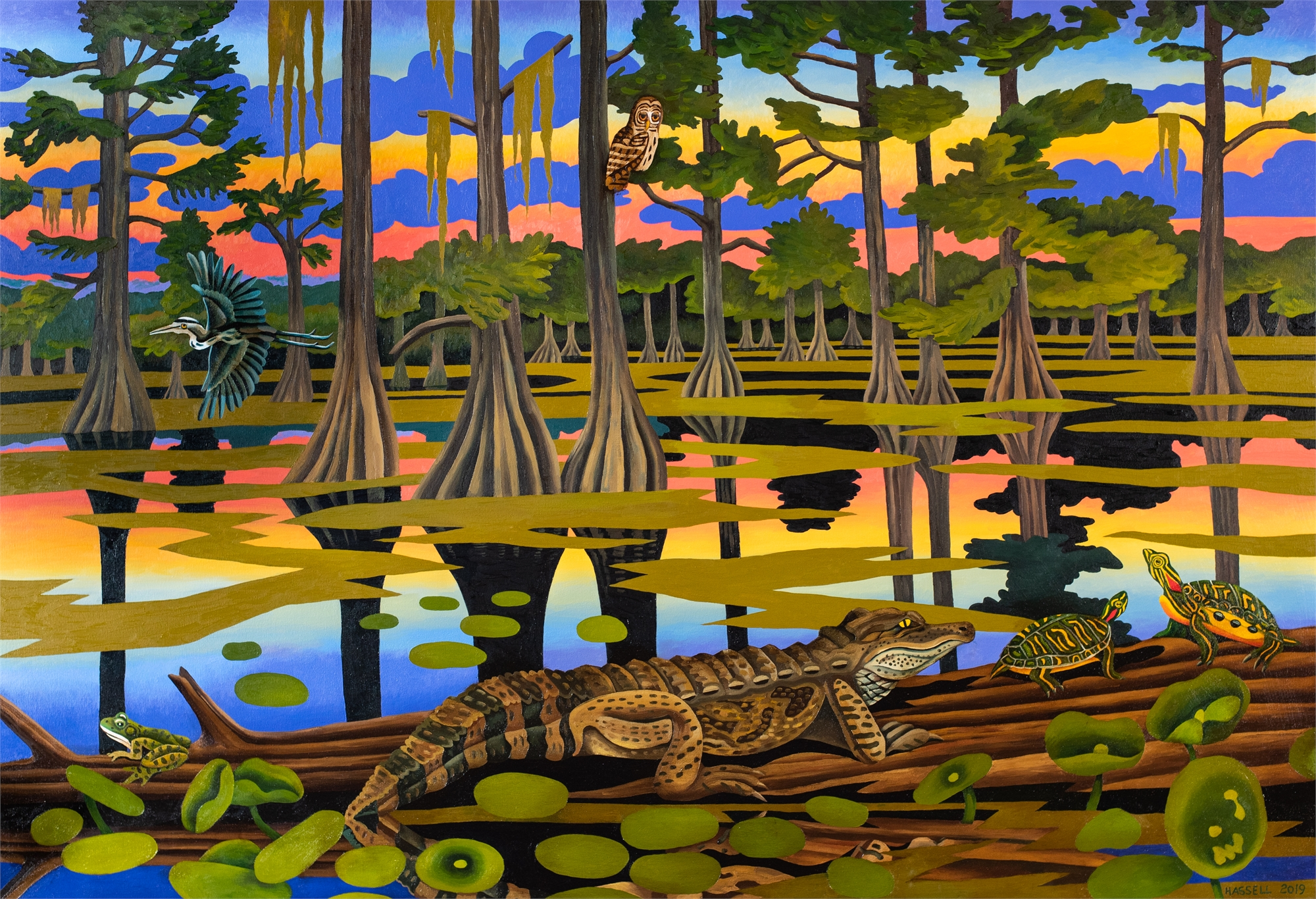 Caddo Lake Meditation by Billy Hassell