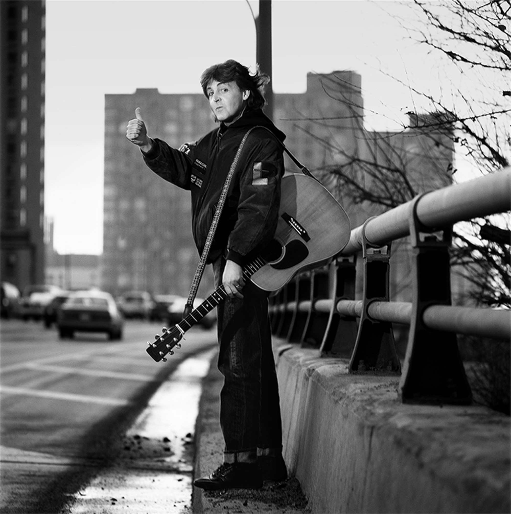 89194 Paul McCartney Paul On the Highway BW by Timothy White