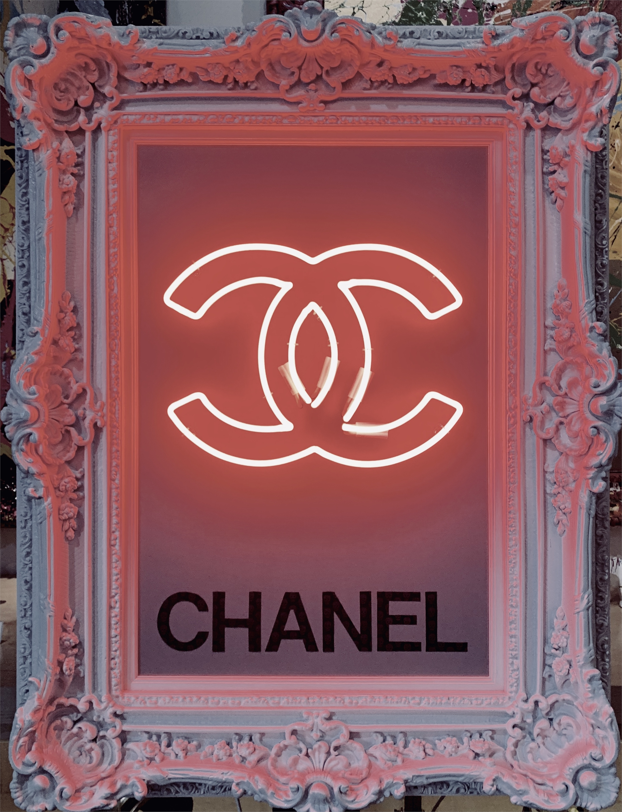 Neon Chanel by Behind Pink Walls