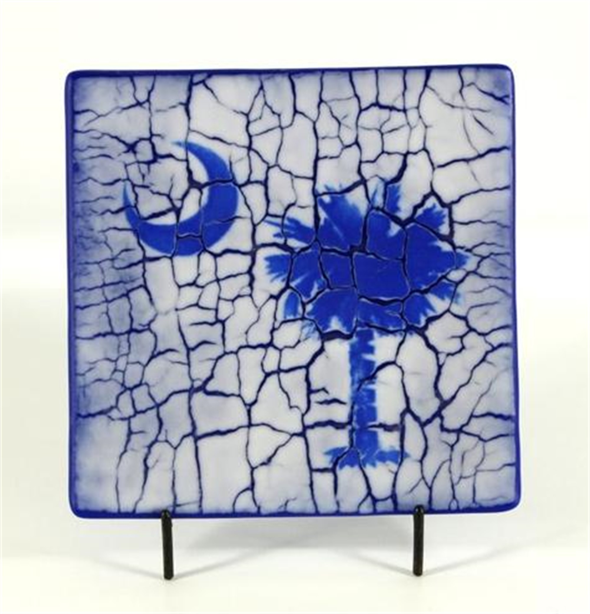 Palmetto Plate - Blue with Crackle by Greg Rawls