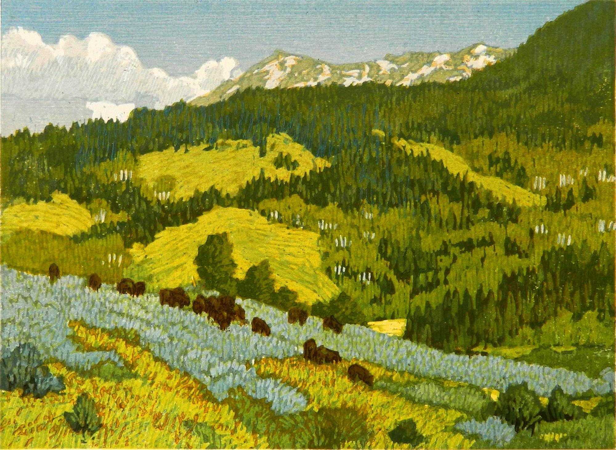 Summer Pasture by Leon Loughridge
