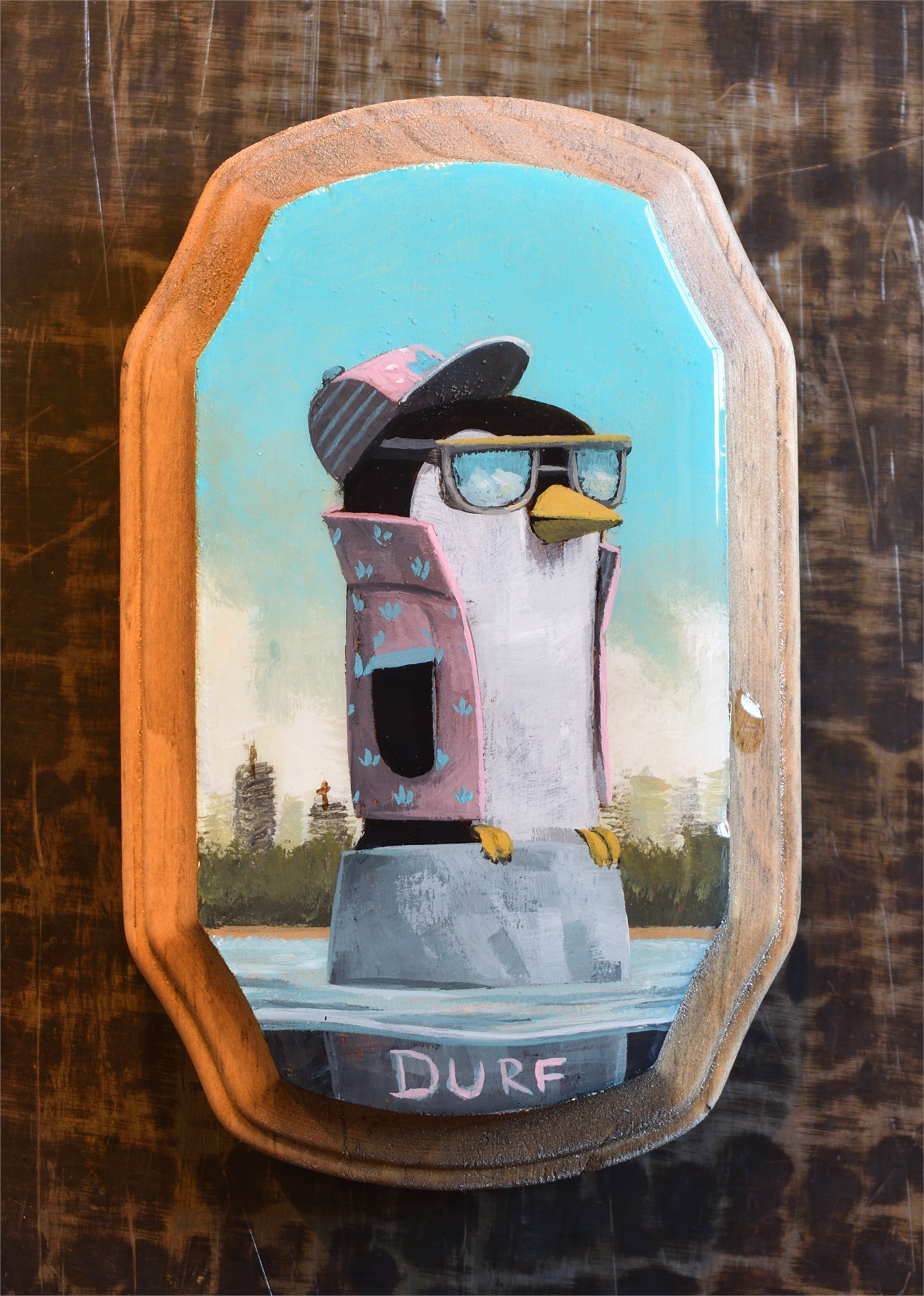 Penguin Ready to Party by Nathan Durfee
