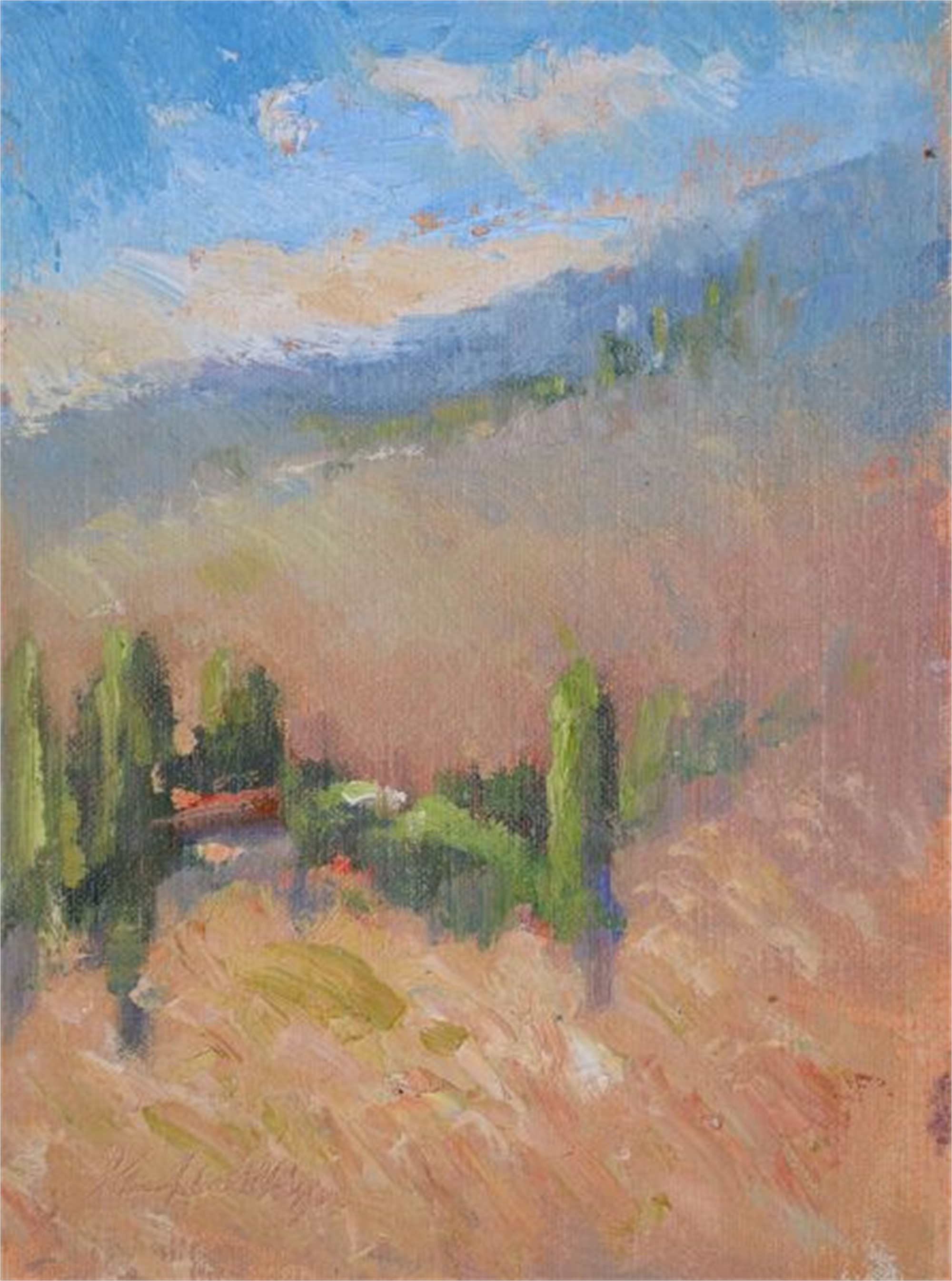 First Morning at San Giovanni d'Asso by Karen Hewitt Hagan