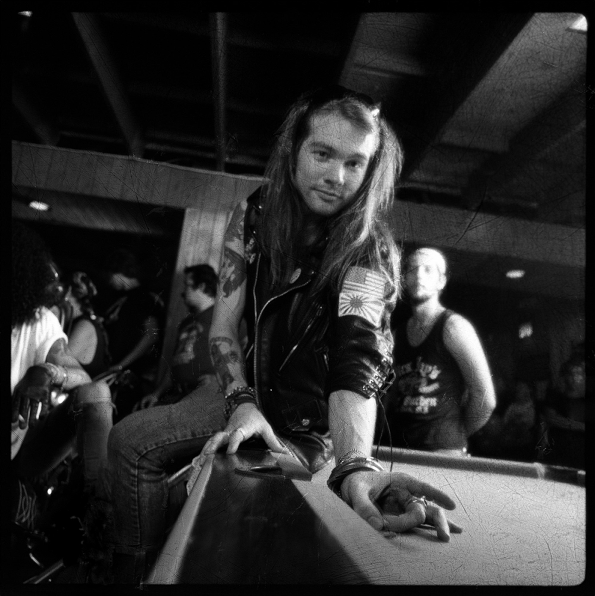 88138 Axl Rose Pool Table BW by Timothy White