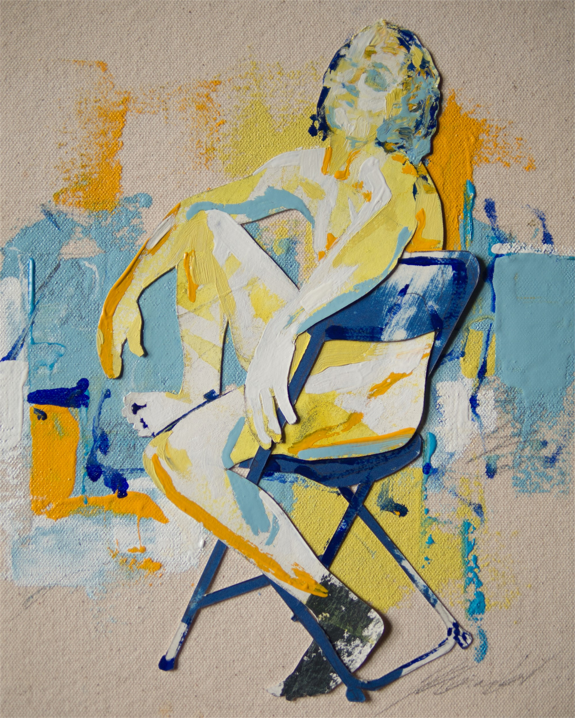 Geo and the Blue Chair by Jason Lee Gimbel