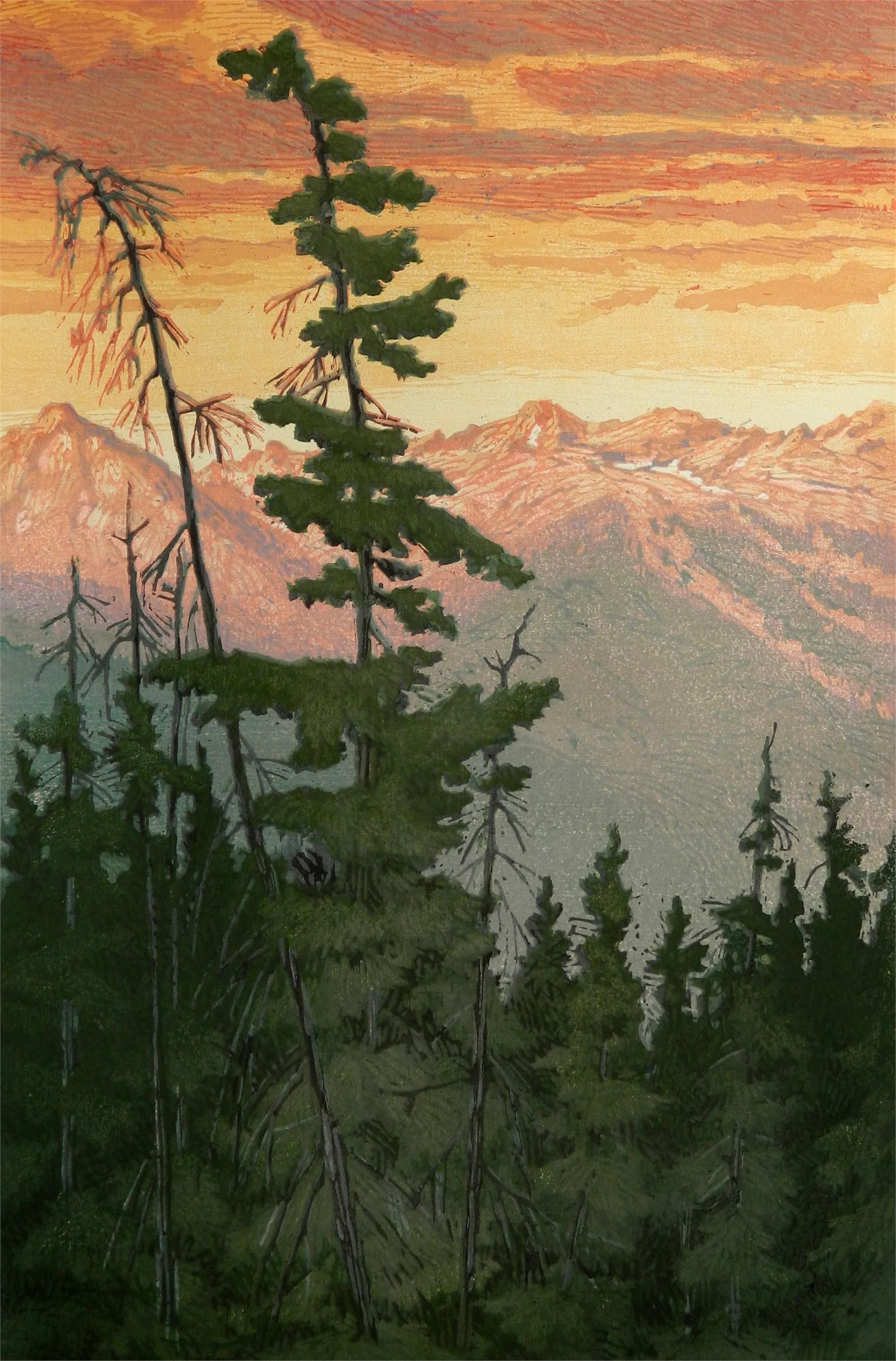 Gore Range Sunrise by Leon Loughridge
