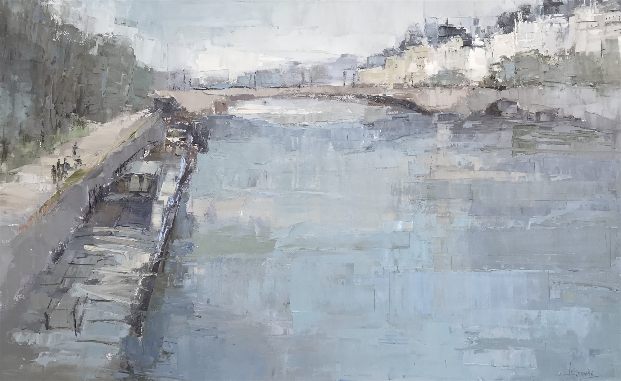 Along the Seine by Barbara Flowers