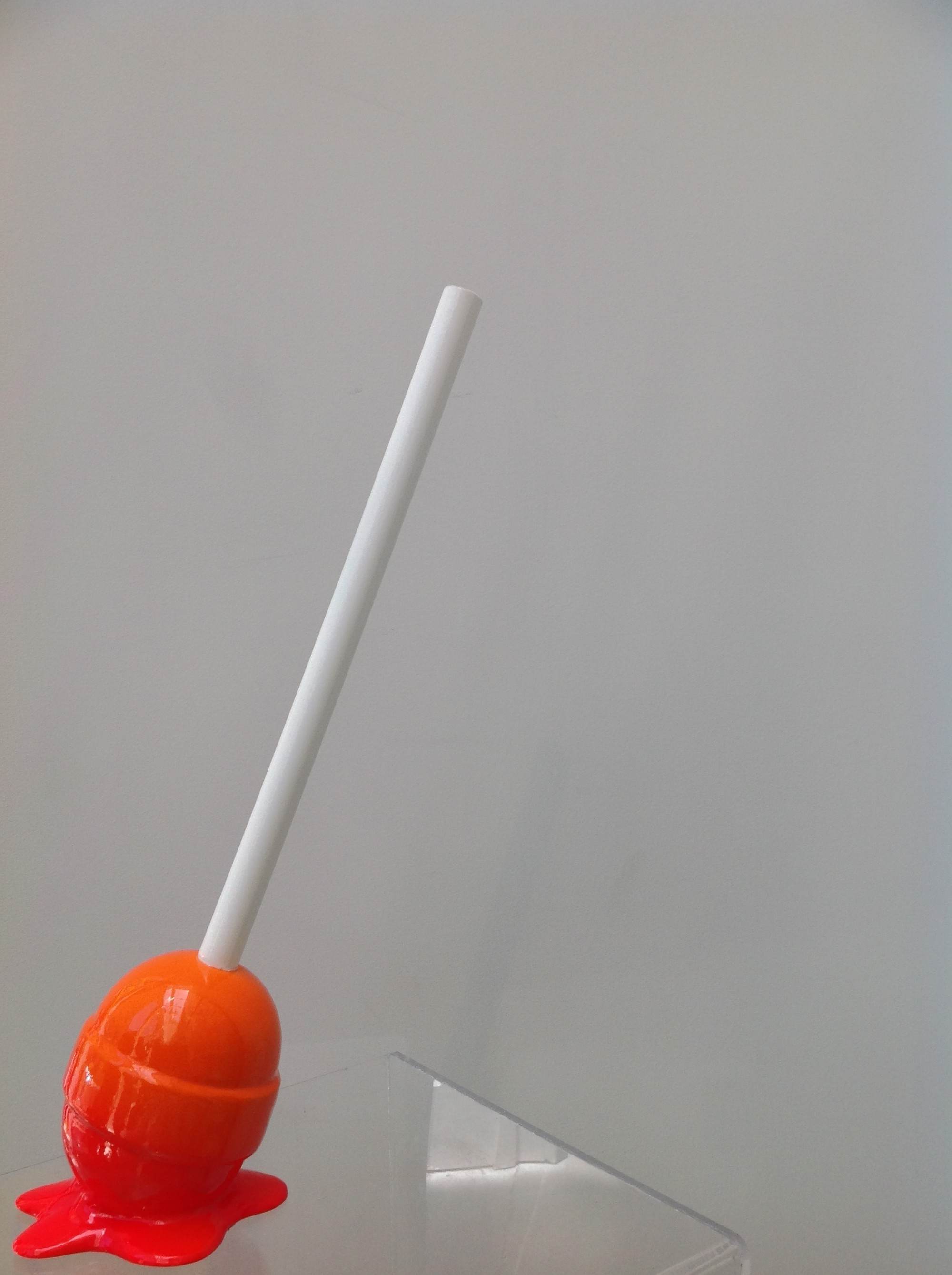 The Sweet Life small Red/Orange Ombre Lollipop by Elena Bulatova