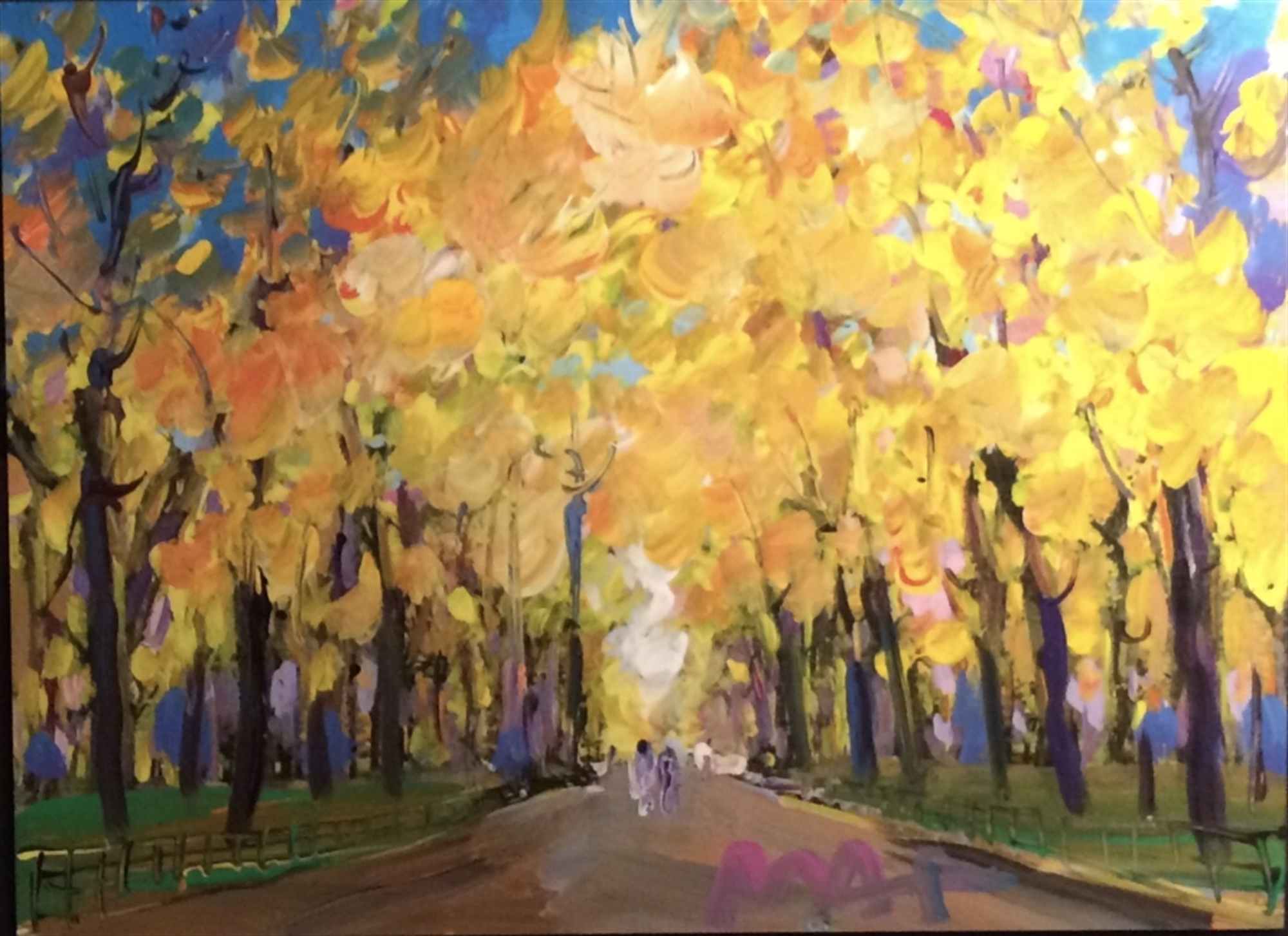 Four Seasons II: Autumn Central Park - Available as Commission by Peter Max
