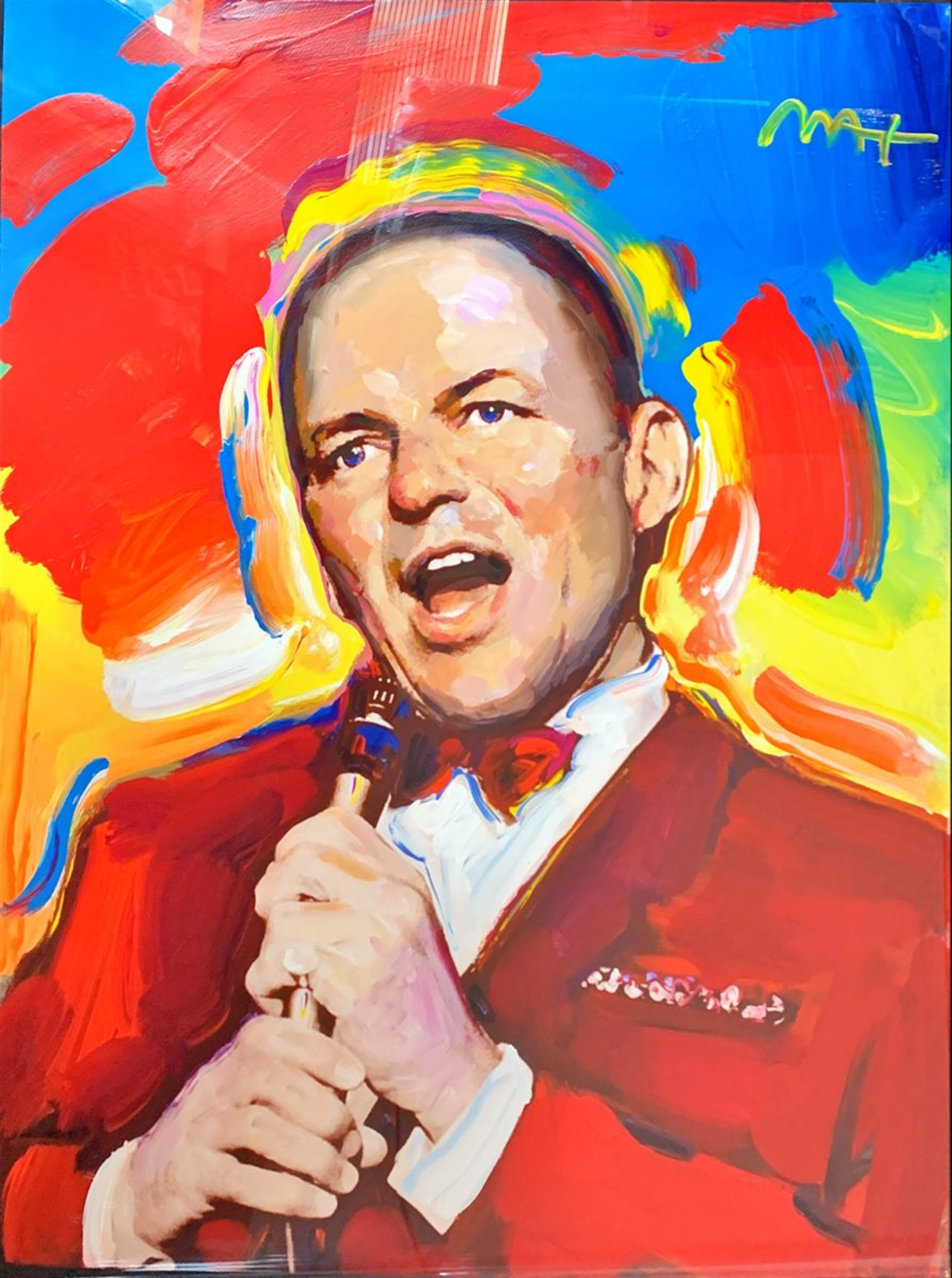 Portrait of Frank Sinatra by Peter Max