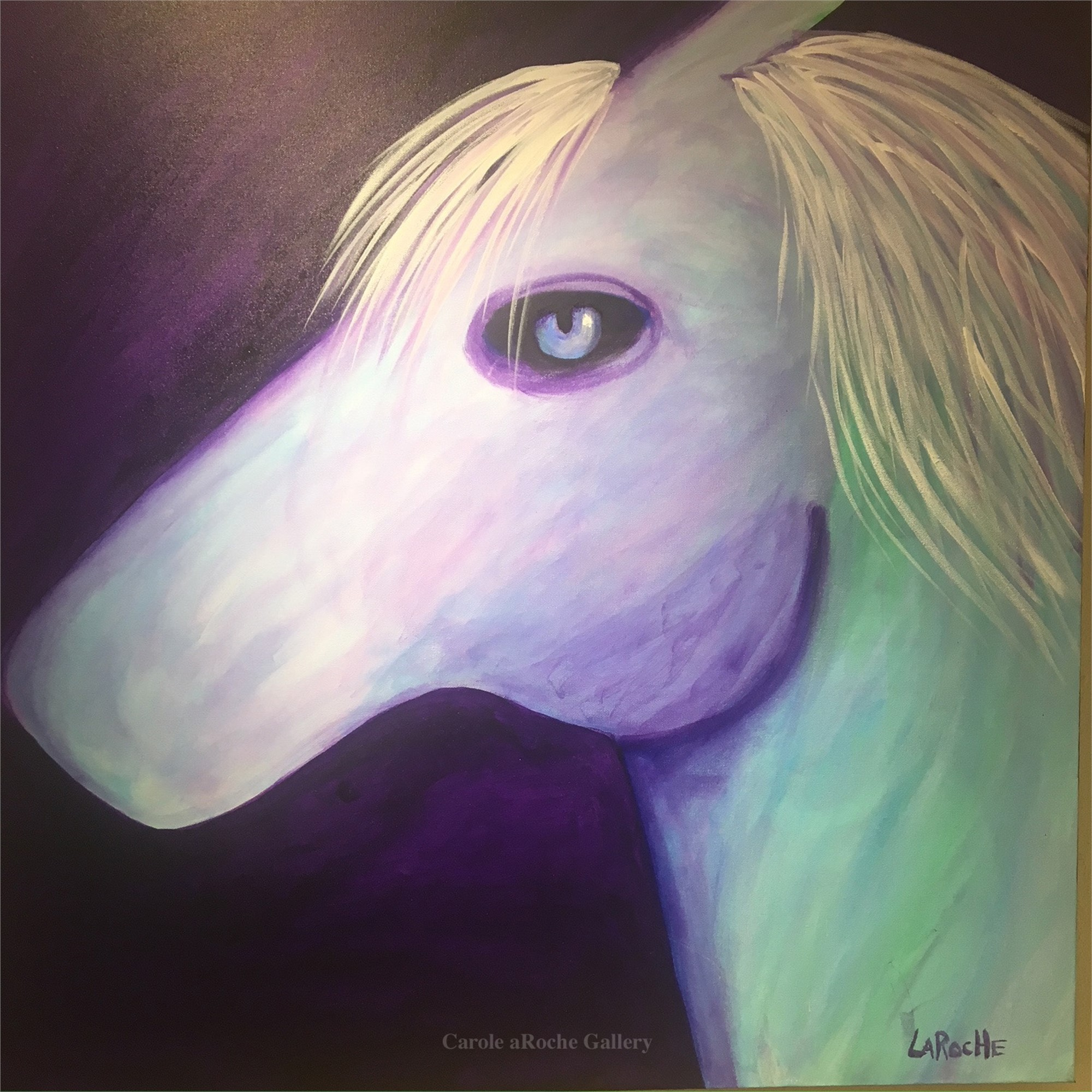 PURPLE PALOMINO by Carole LaRoche