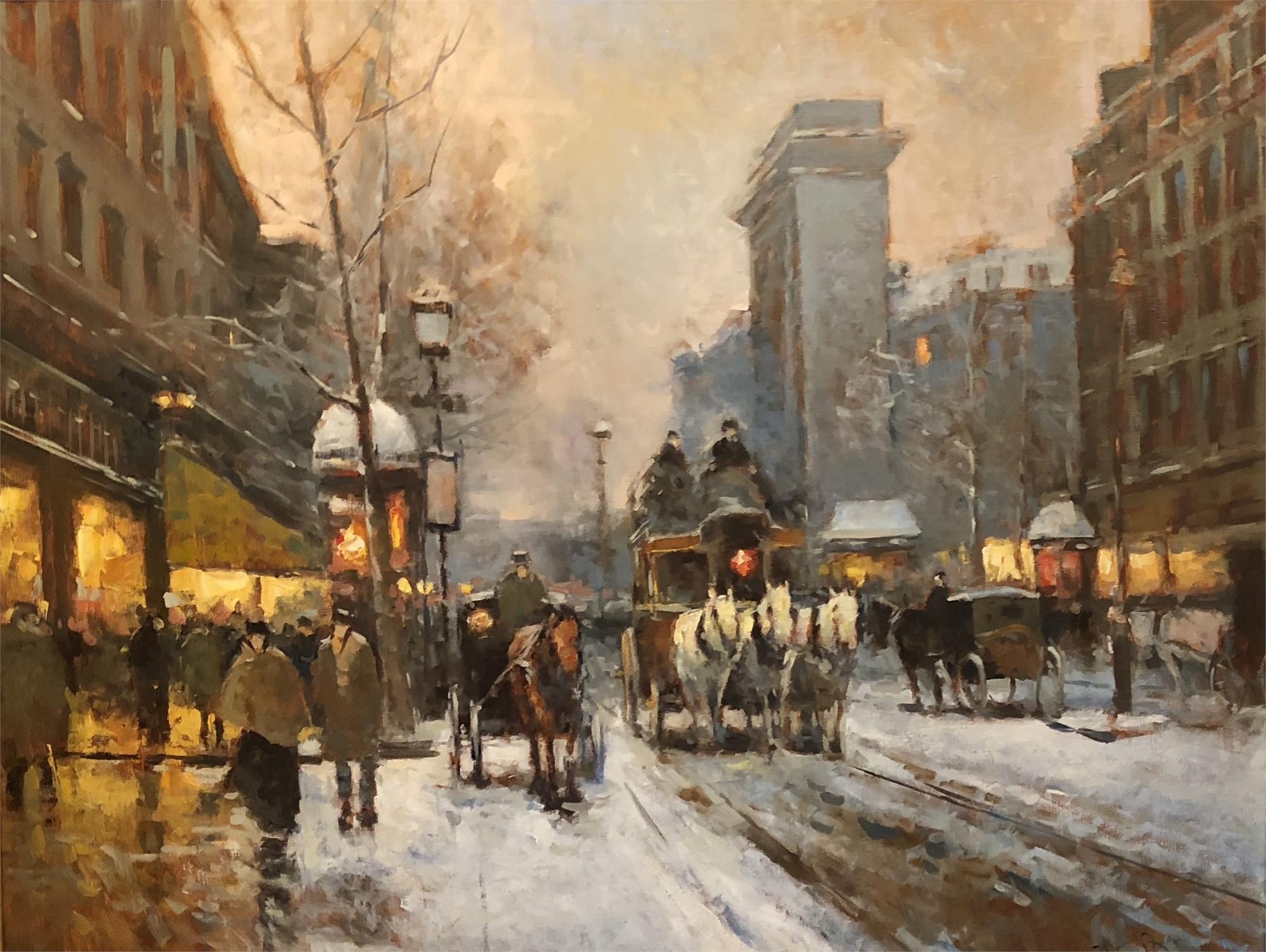 Paris in Snow by NASONOV