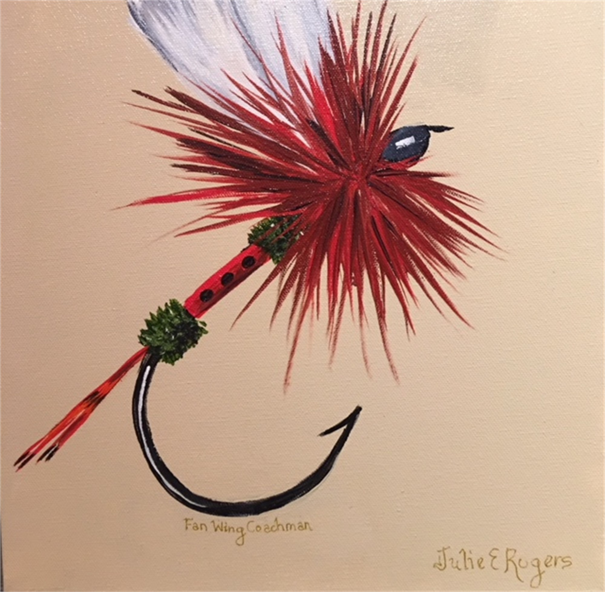 Fan Wing Coachman Dry Fly by Julie Rogers