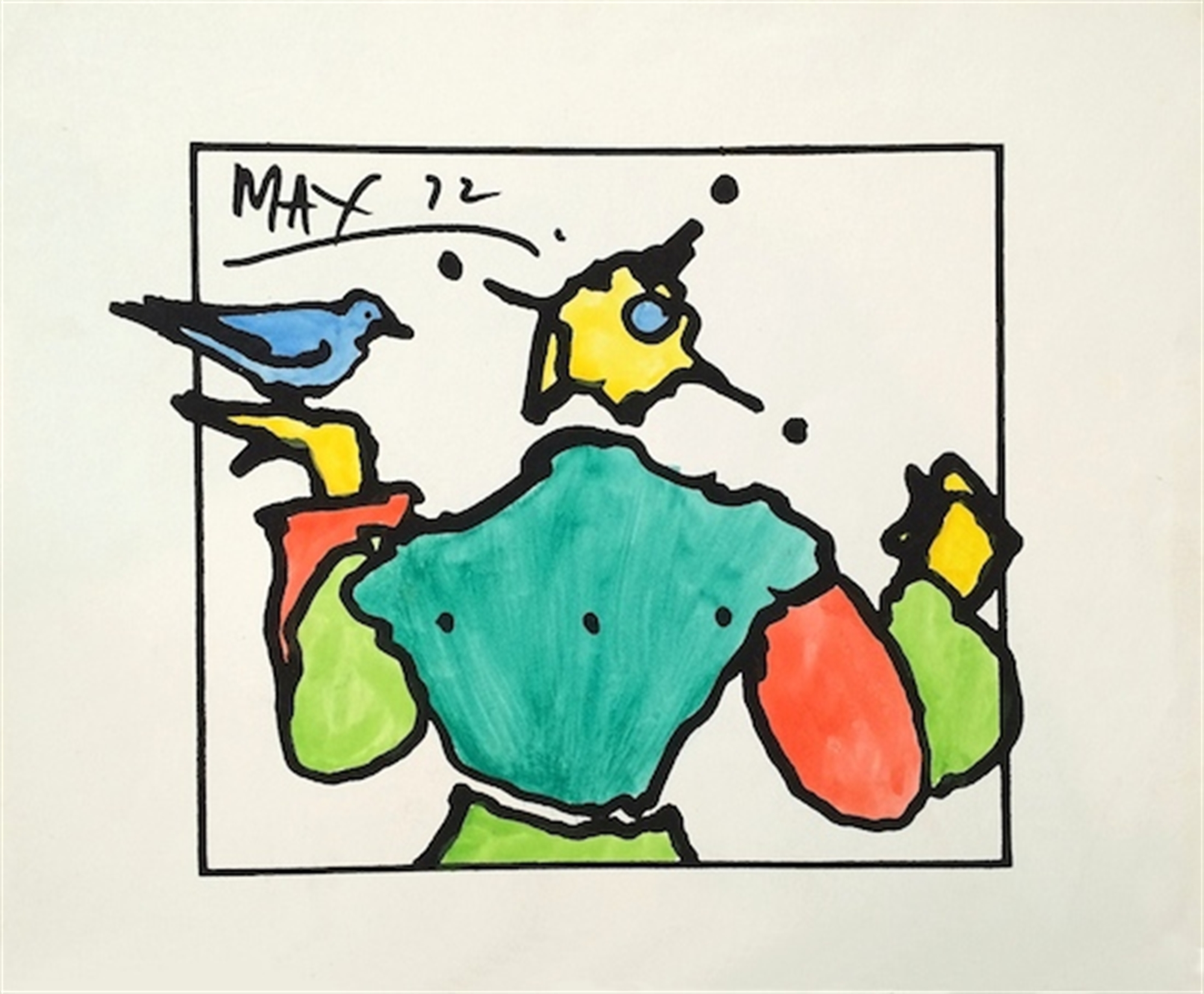 Harlequin with Dove by Peter Max