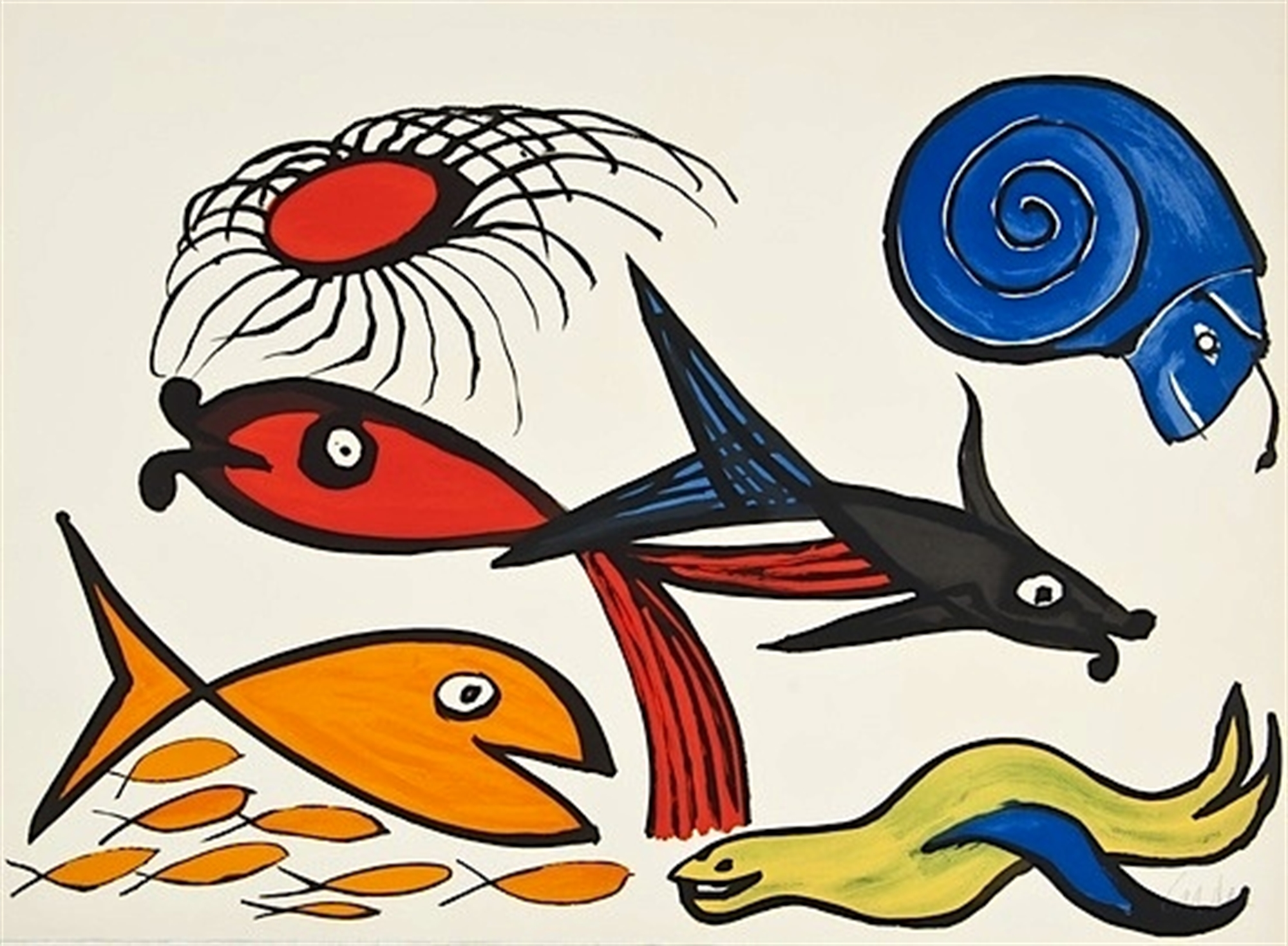 Sea Creatures - Seal by Alexander Calder