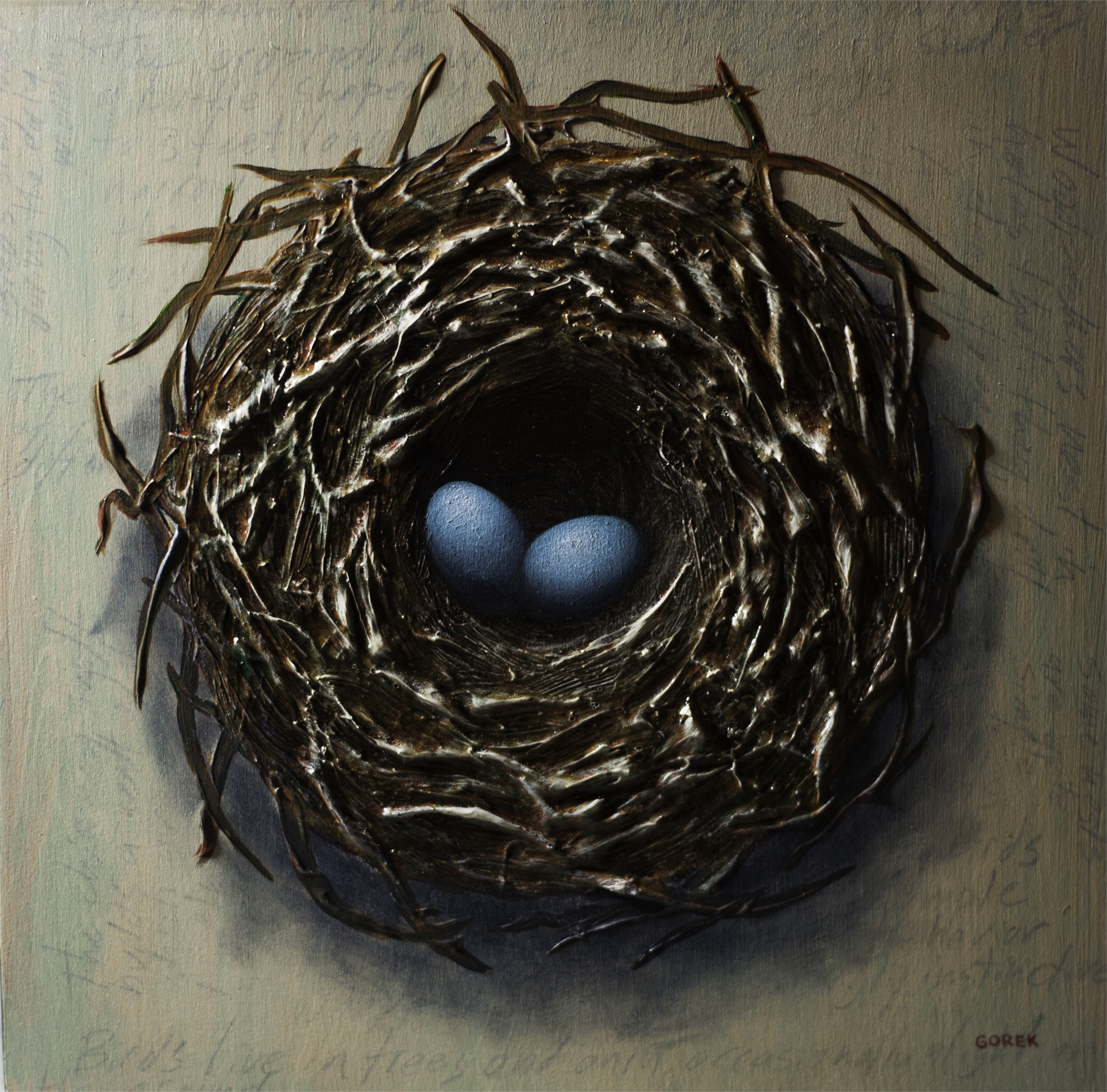 Bird's Nest, Two Eggs by Thane Gorek