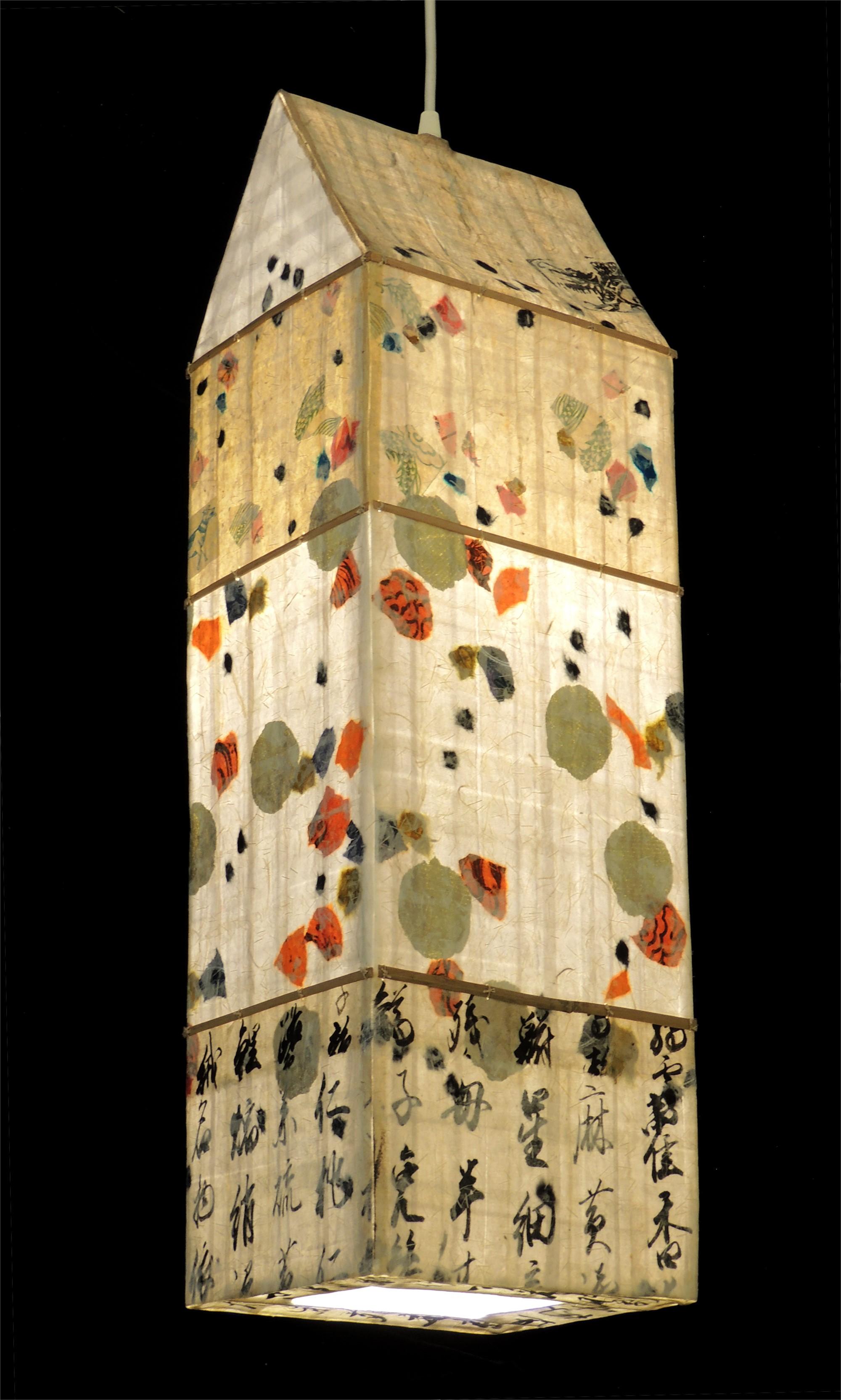 Gingko Sand Spirit House Lantern by Elaine Hanowell