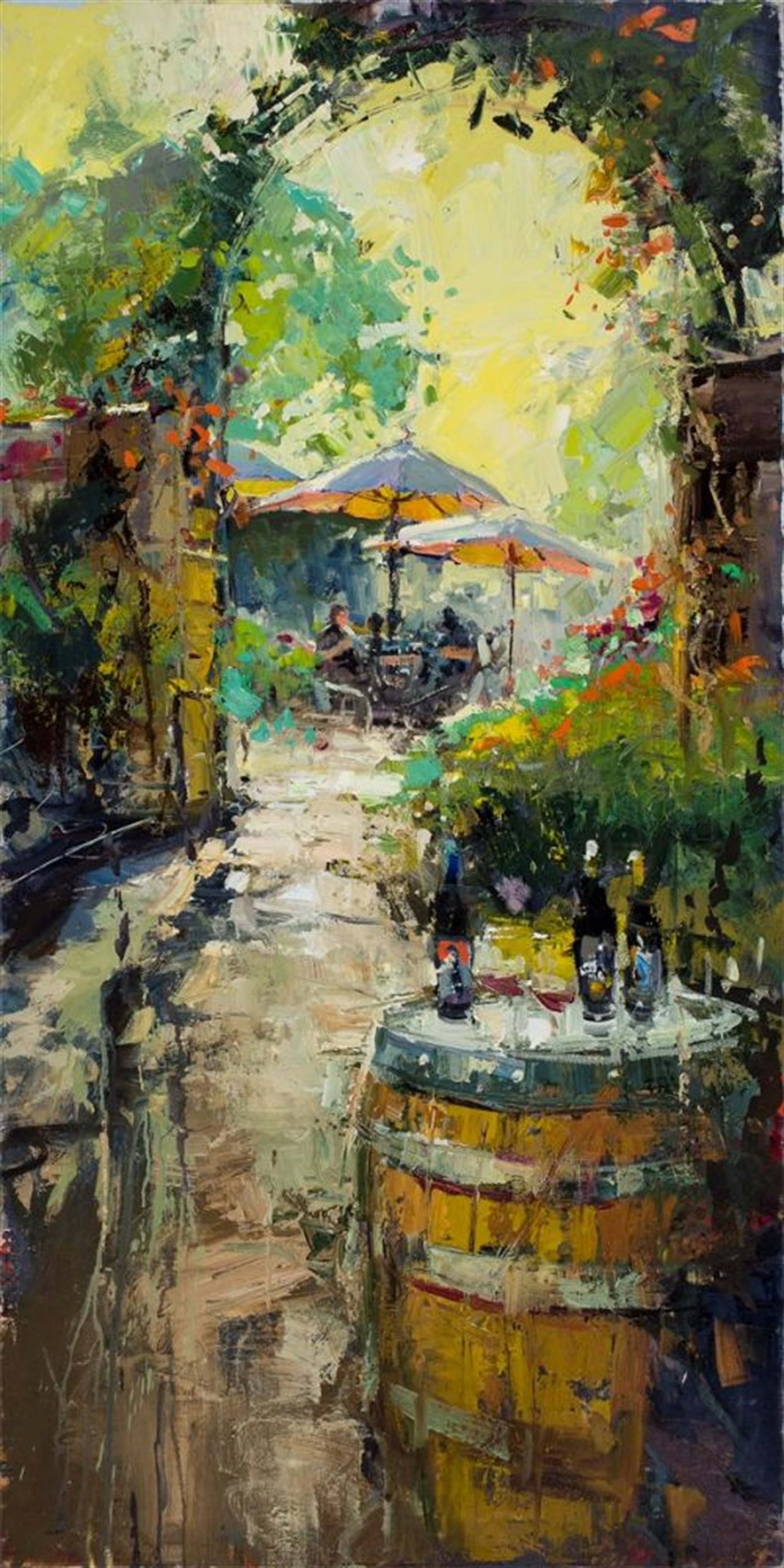 Umbrellas in the Sun by Steven Quartly