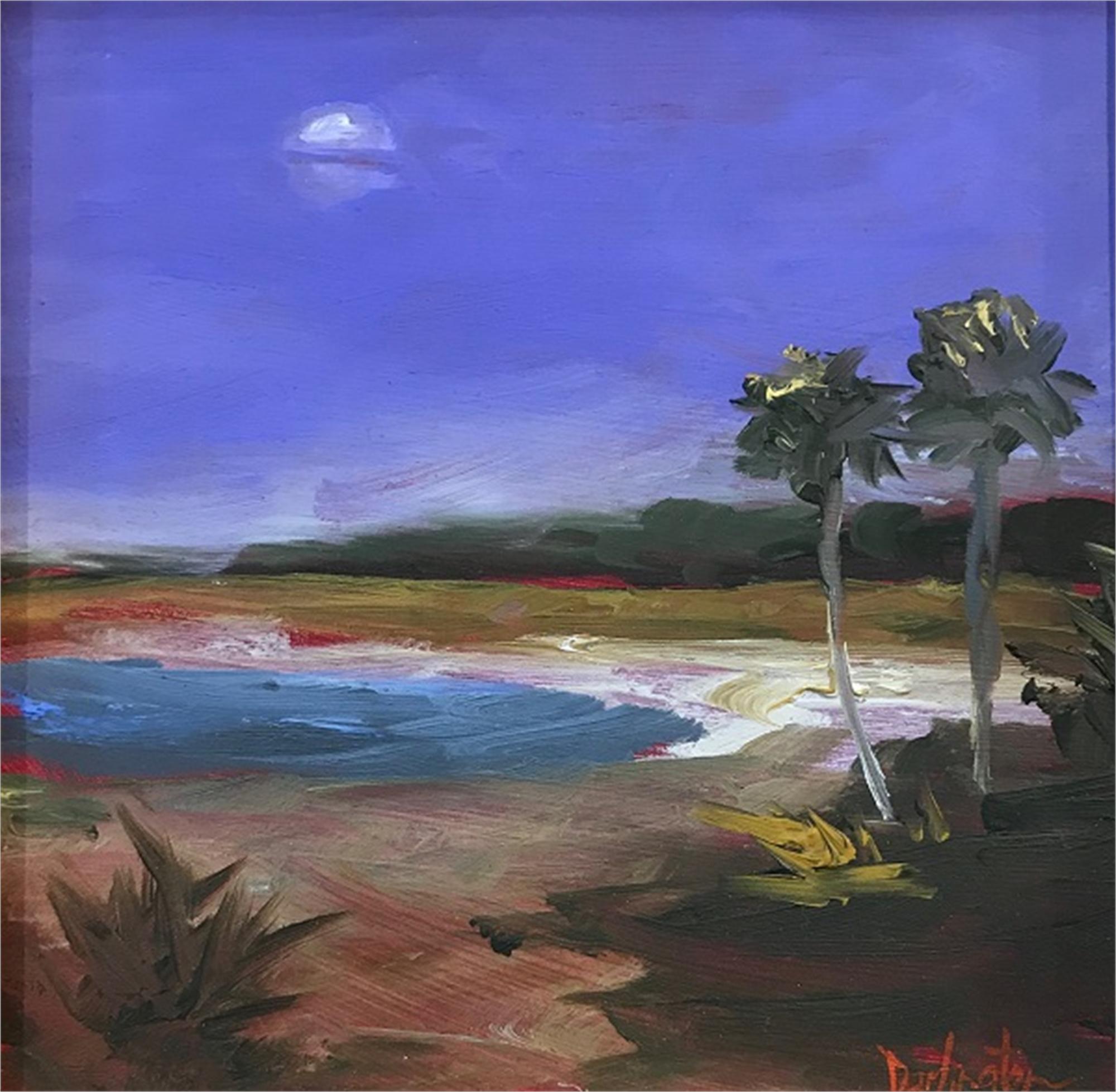 Moonlight on the Harbor by Jim Darlington