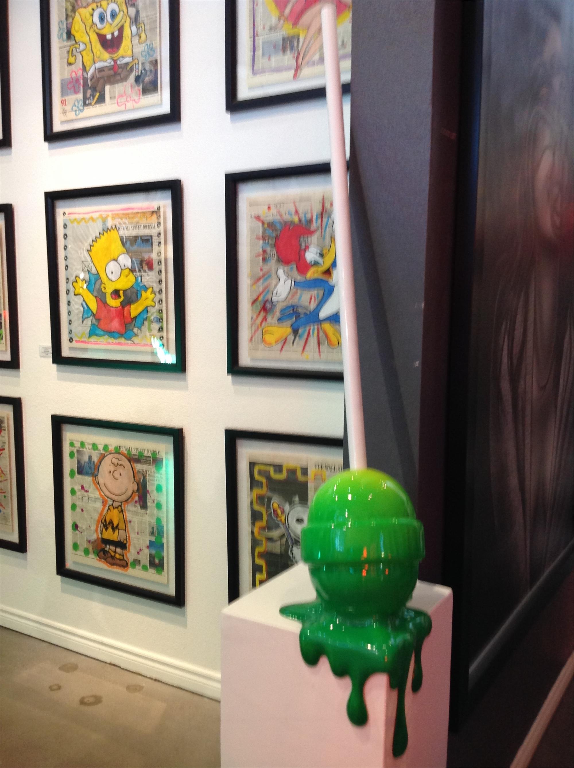 """The Sweet life"" Medium Green Ombre Corner drip Lollipop by Elena Bulatova"