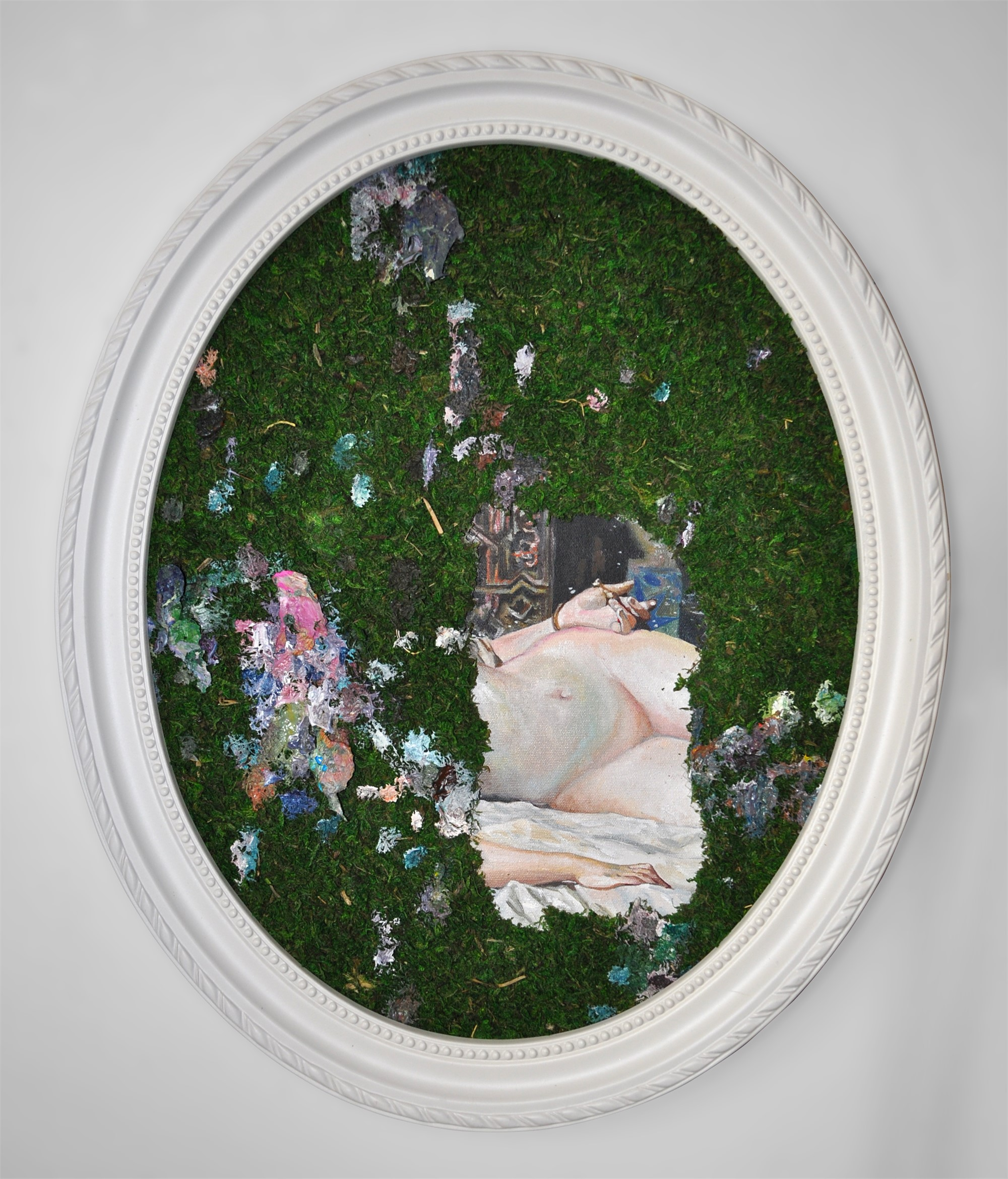 Manly Moss 2, Odalisque After Fortuny by Melissa Furness