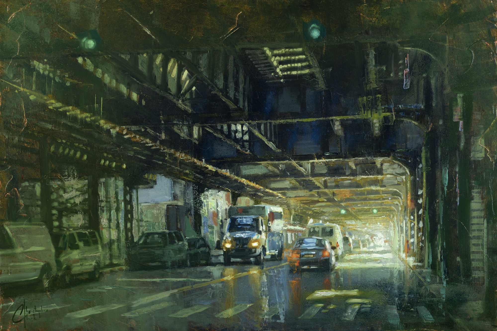 NYC - Under the Williamsburg Bridge by Christopher Clark