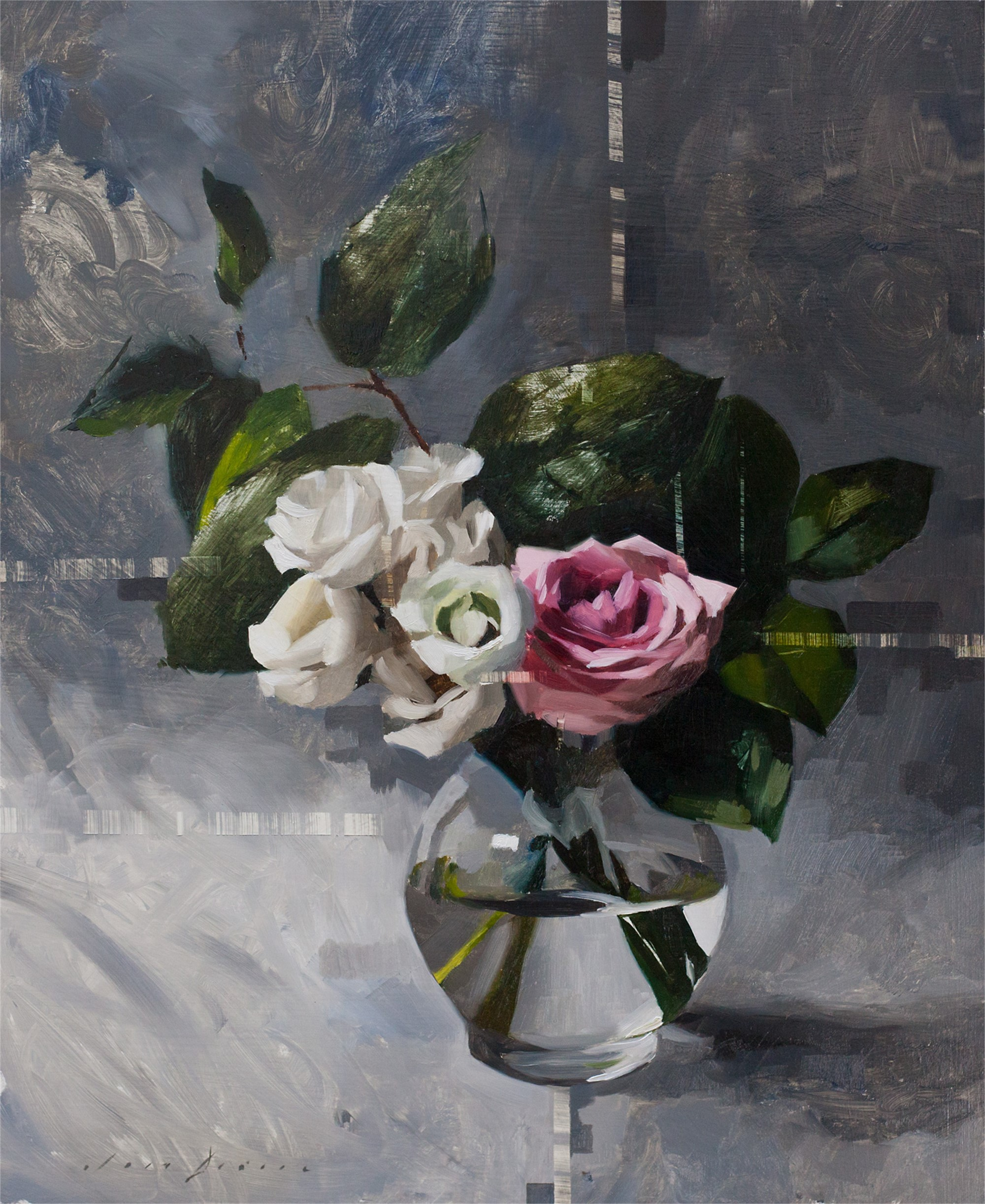 Lisianth, Rose and Grey by Jon Doran