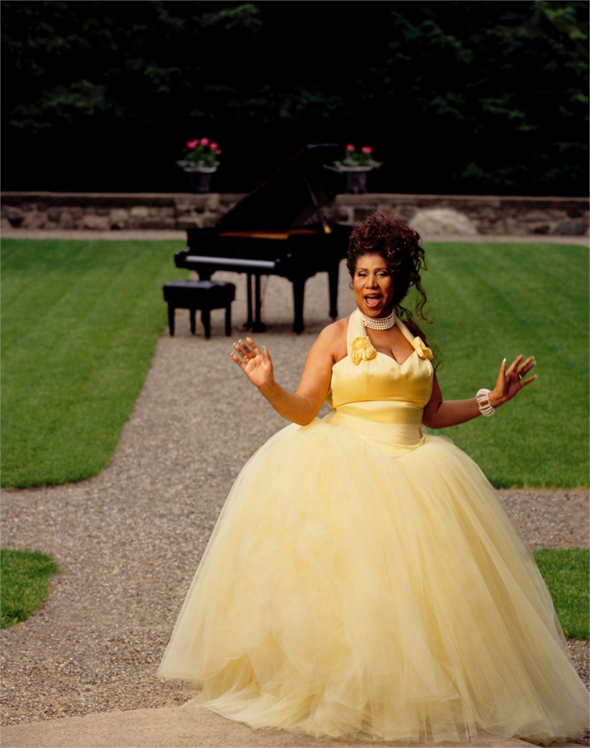 93057 Aretha Franklin Yellow Dress Color by Timothy White