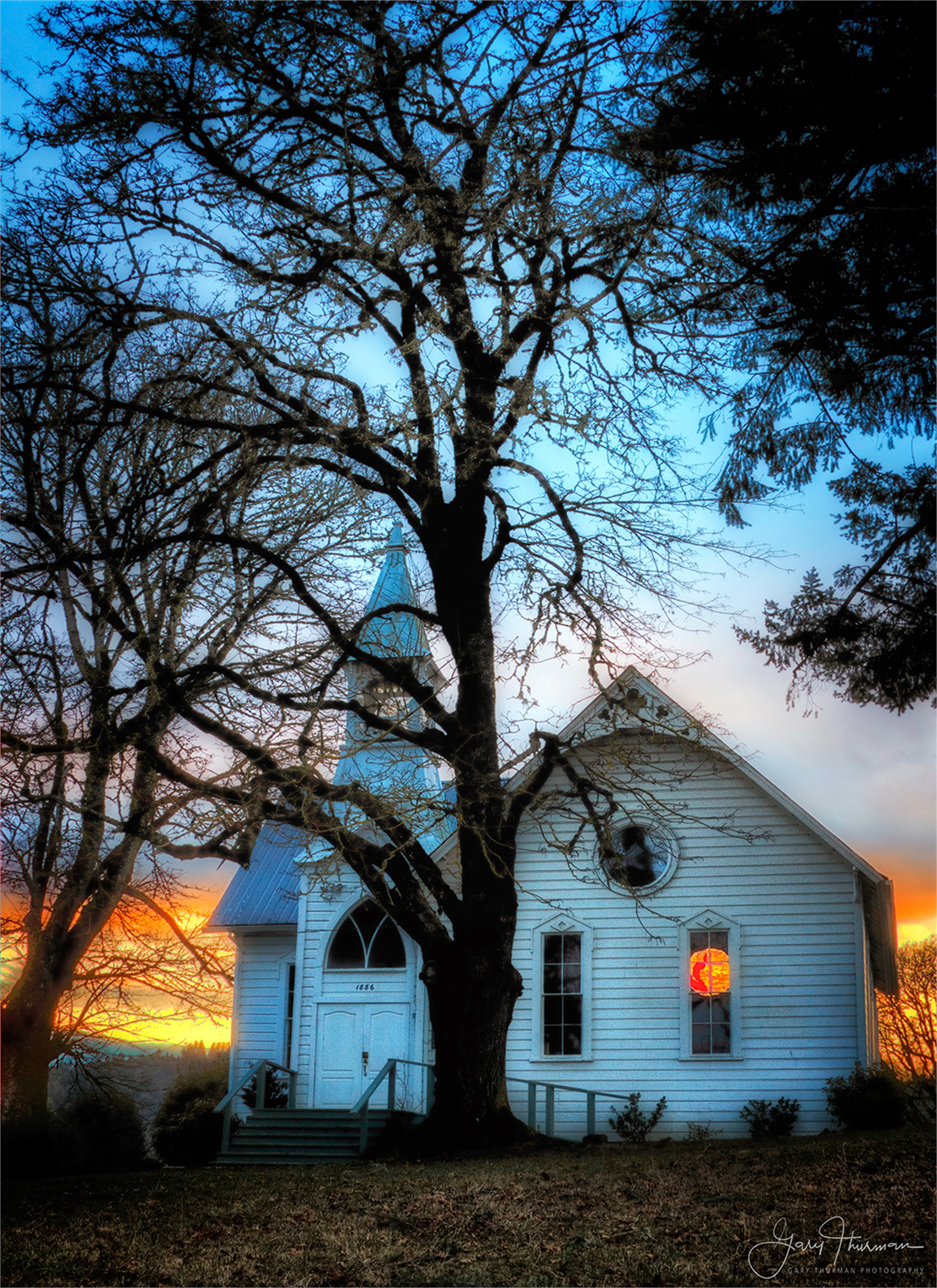 McCabe Chapel Sunset by Gary Thurman (McMinnville, OR)