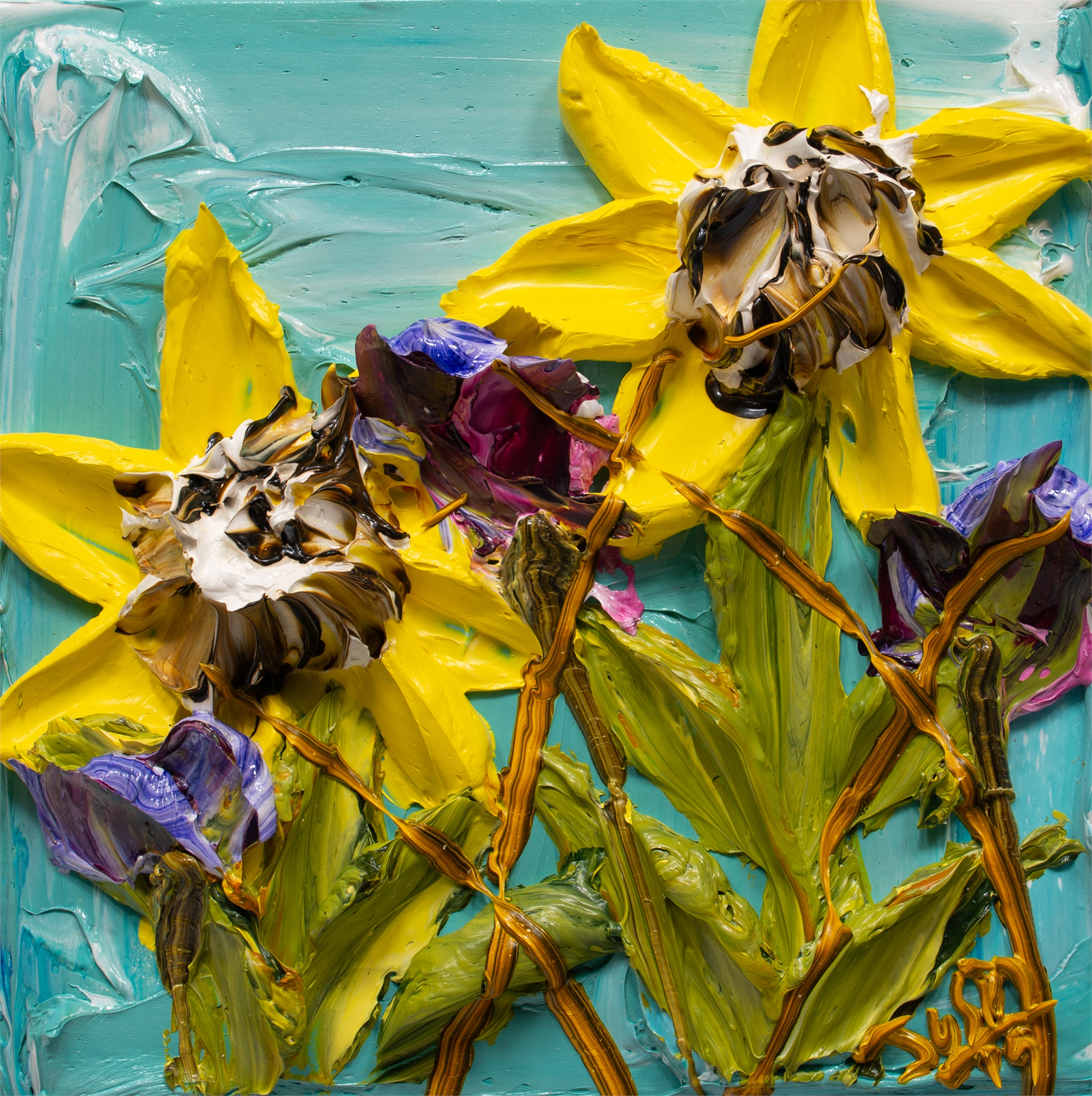 SUNFLOWERS-SF-12X12-2019-189 by JUSTIN GAFFREY