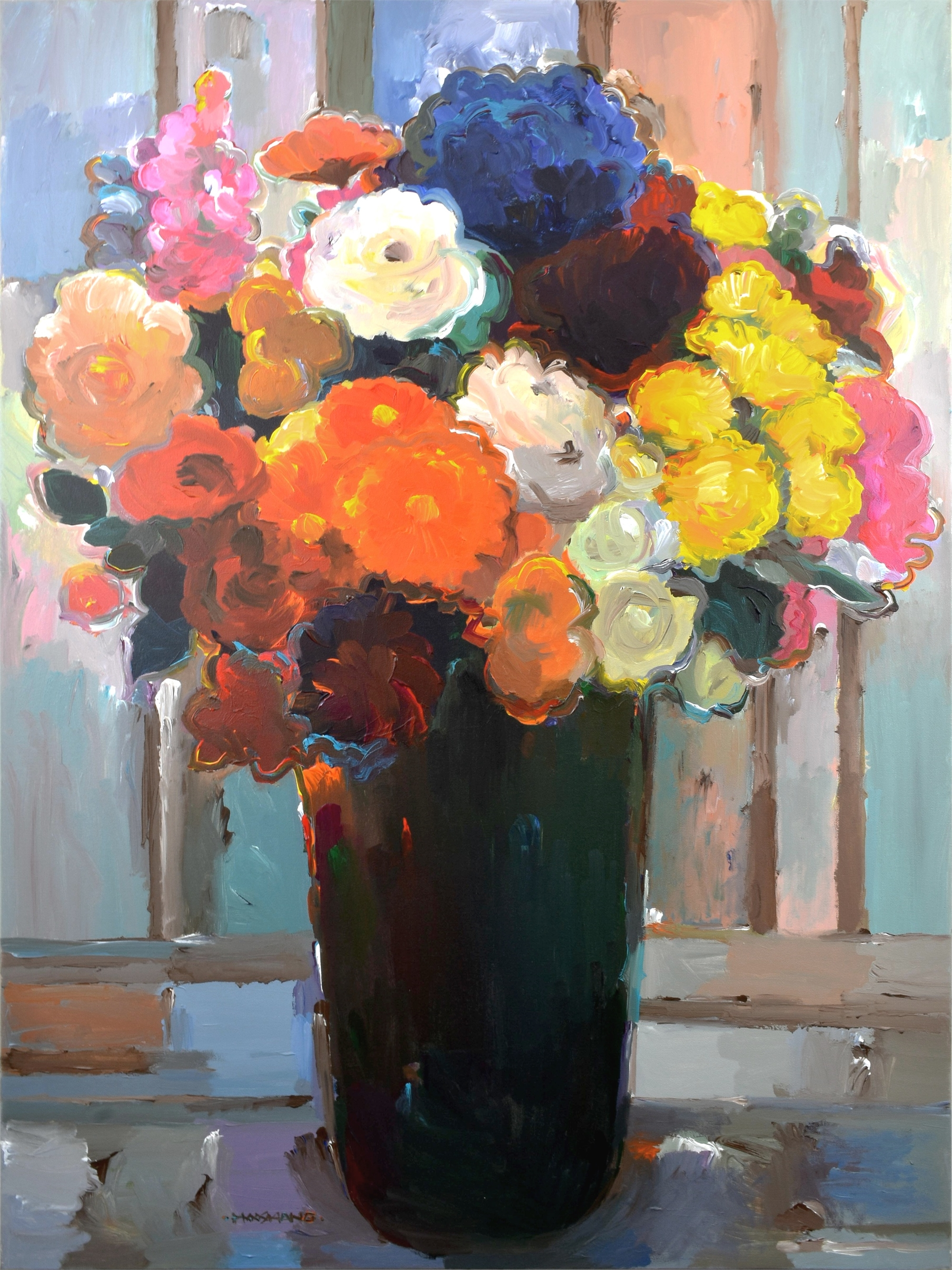 Bouquet of Many Colors by Hooshang Khorasani