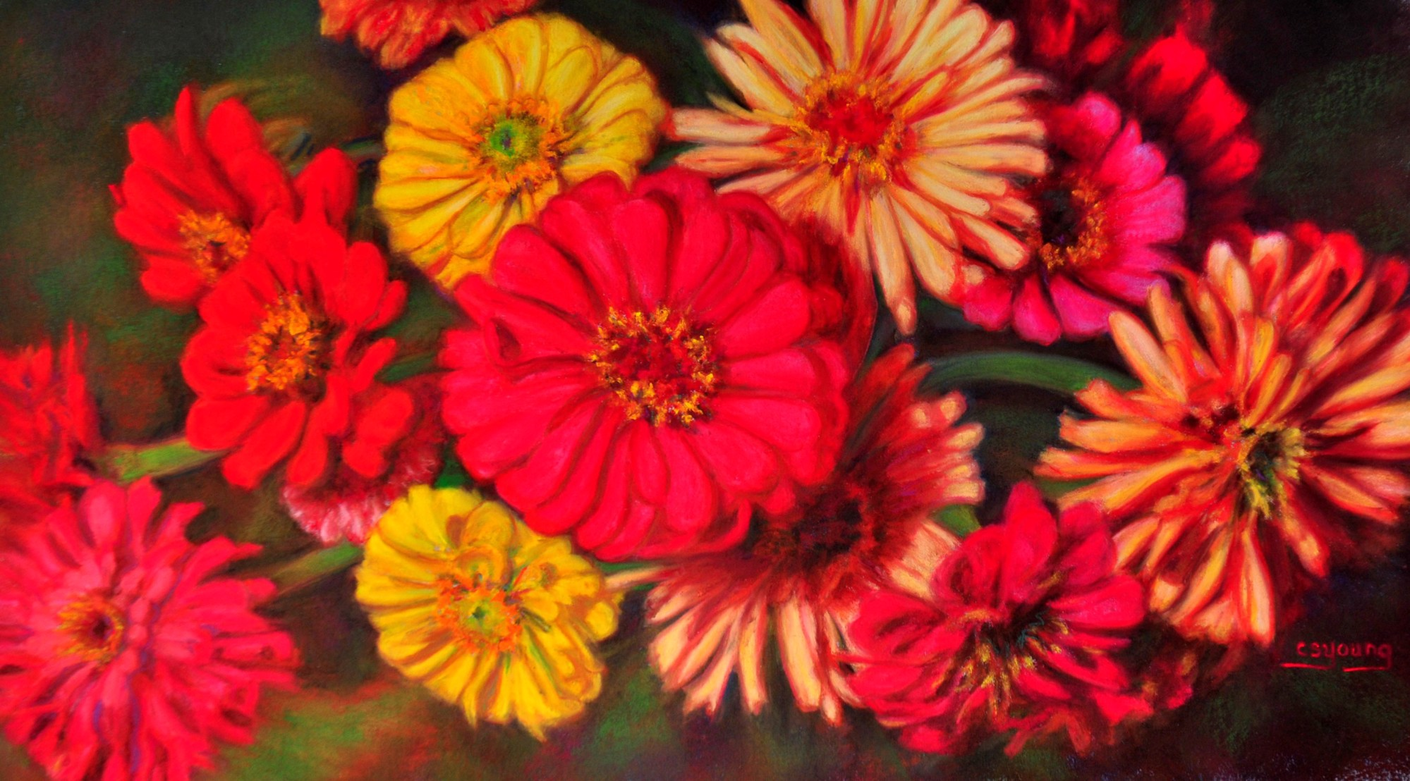 Zest for Zinnias by Caroline S. Young