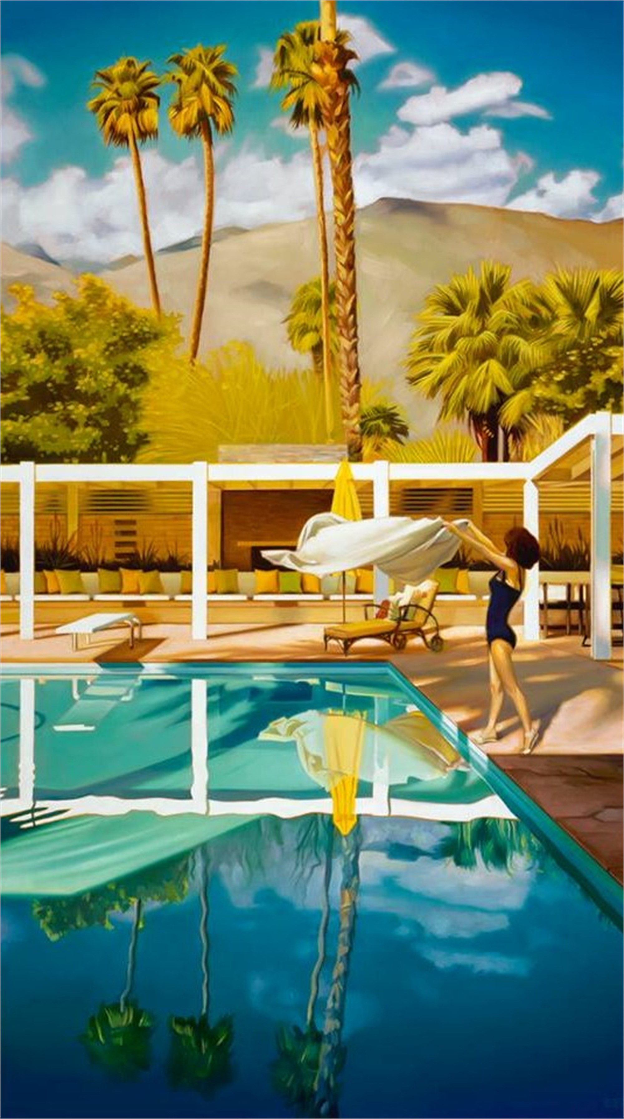 Chillin' In The Palm Shadows (S/N) by Carrie Graber