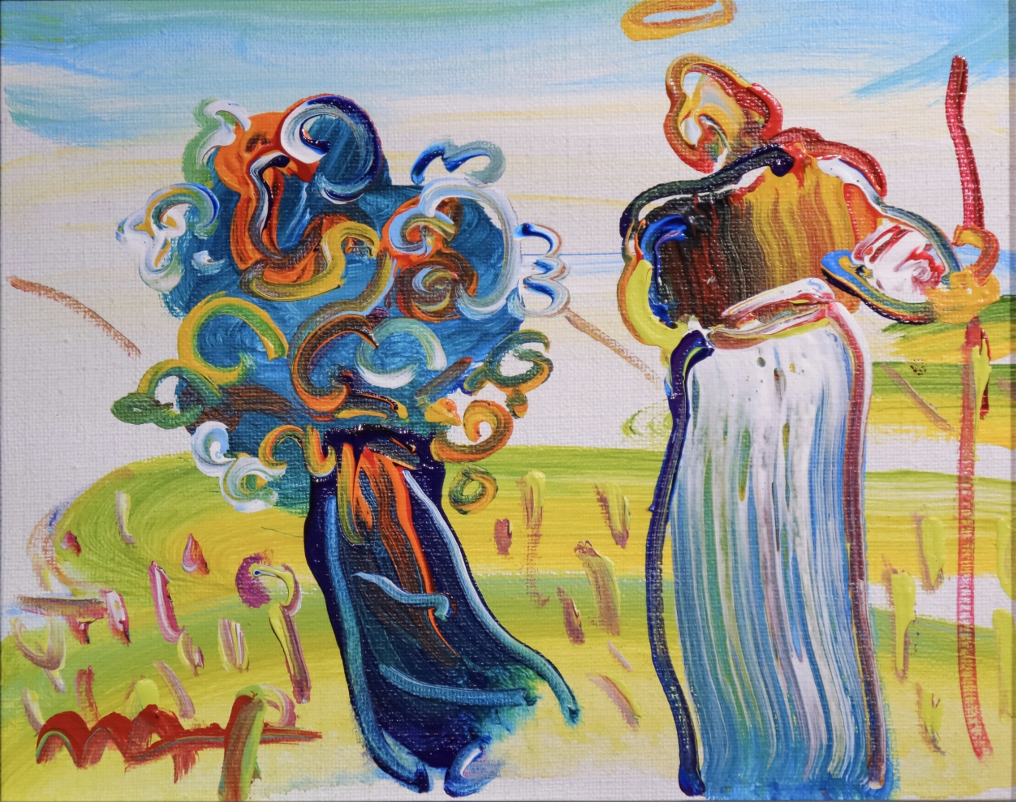 Sage with Cane and Tree by Peter Max
