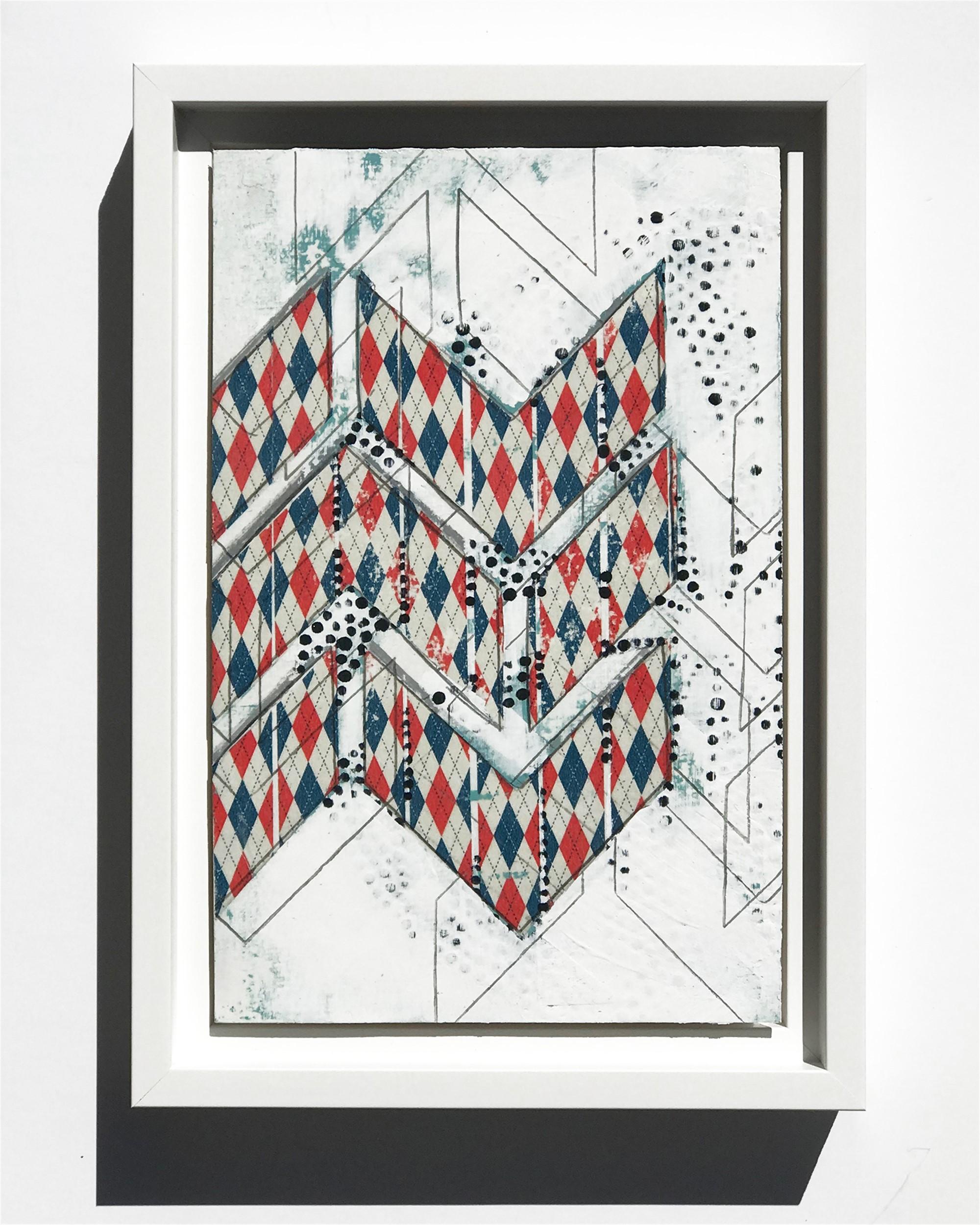 Chevron, Argyle, Study No.18 by Nina Tichava