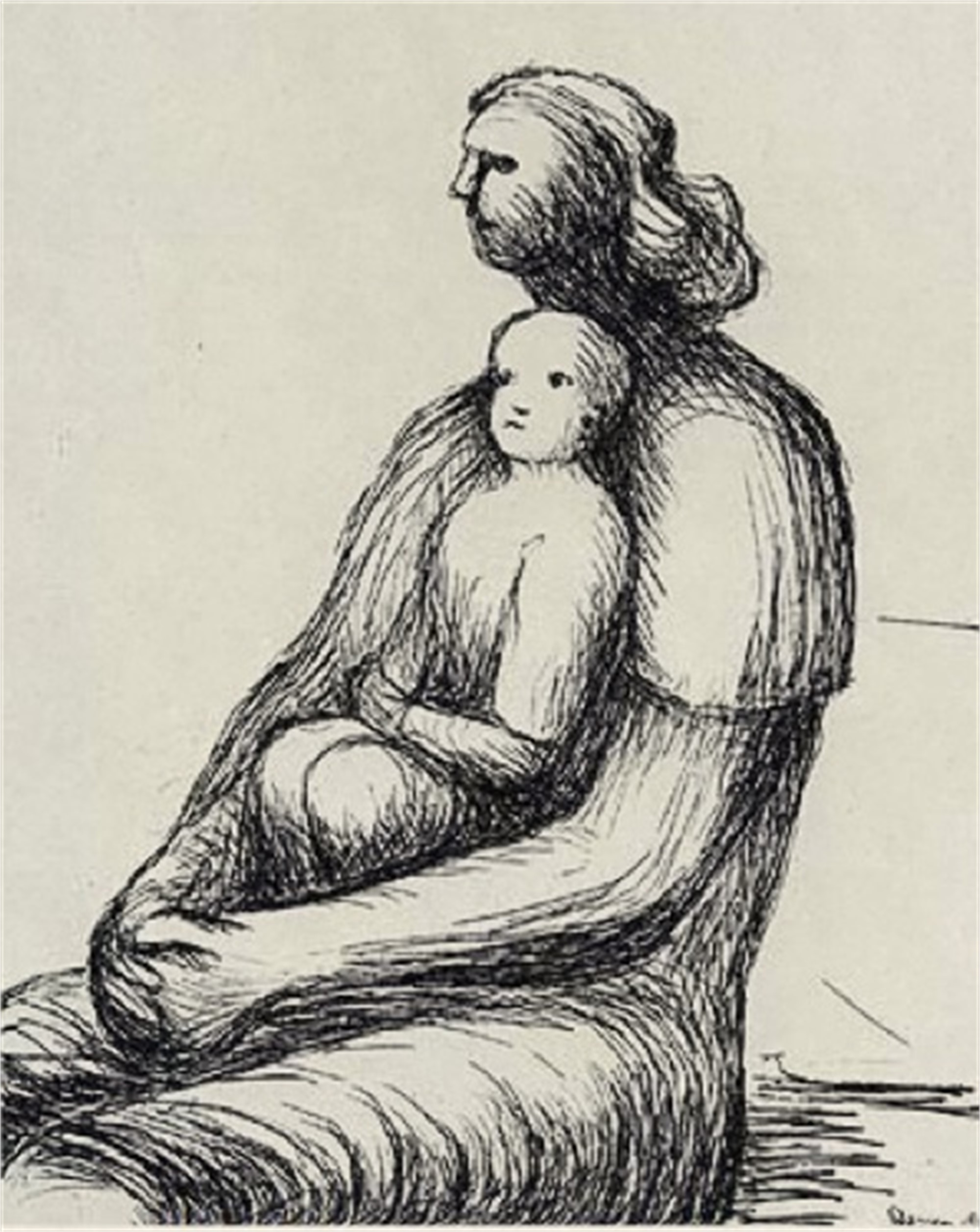Mother and Child XXVII by Henry Moore