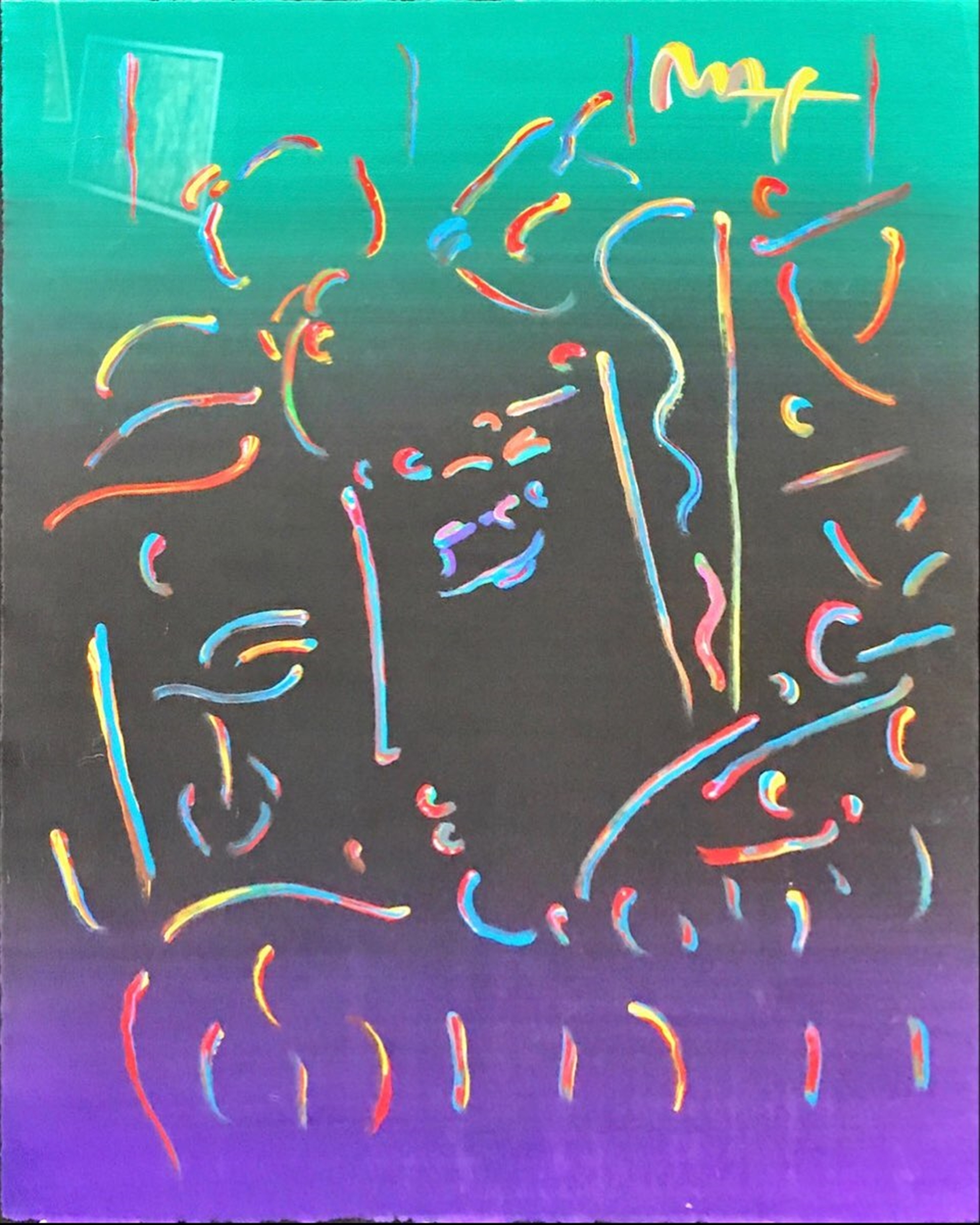 Midnight Profile by Peter Max