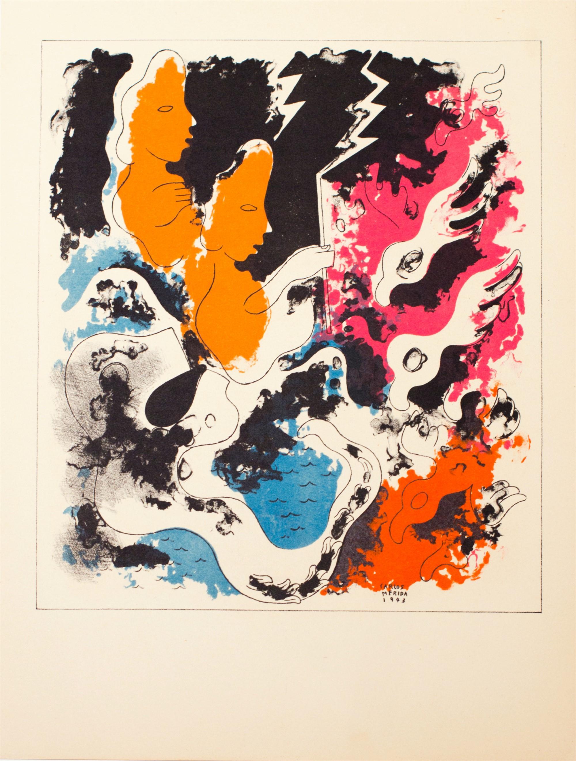 Estampas de Popol Vuh (Plate IX) by Carlos Mérida (1891 - 1985)