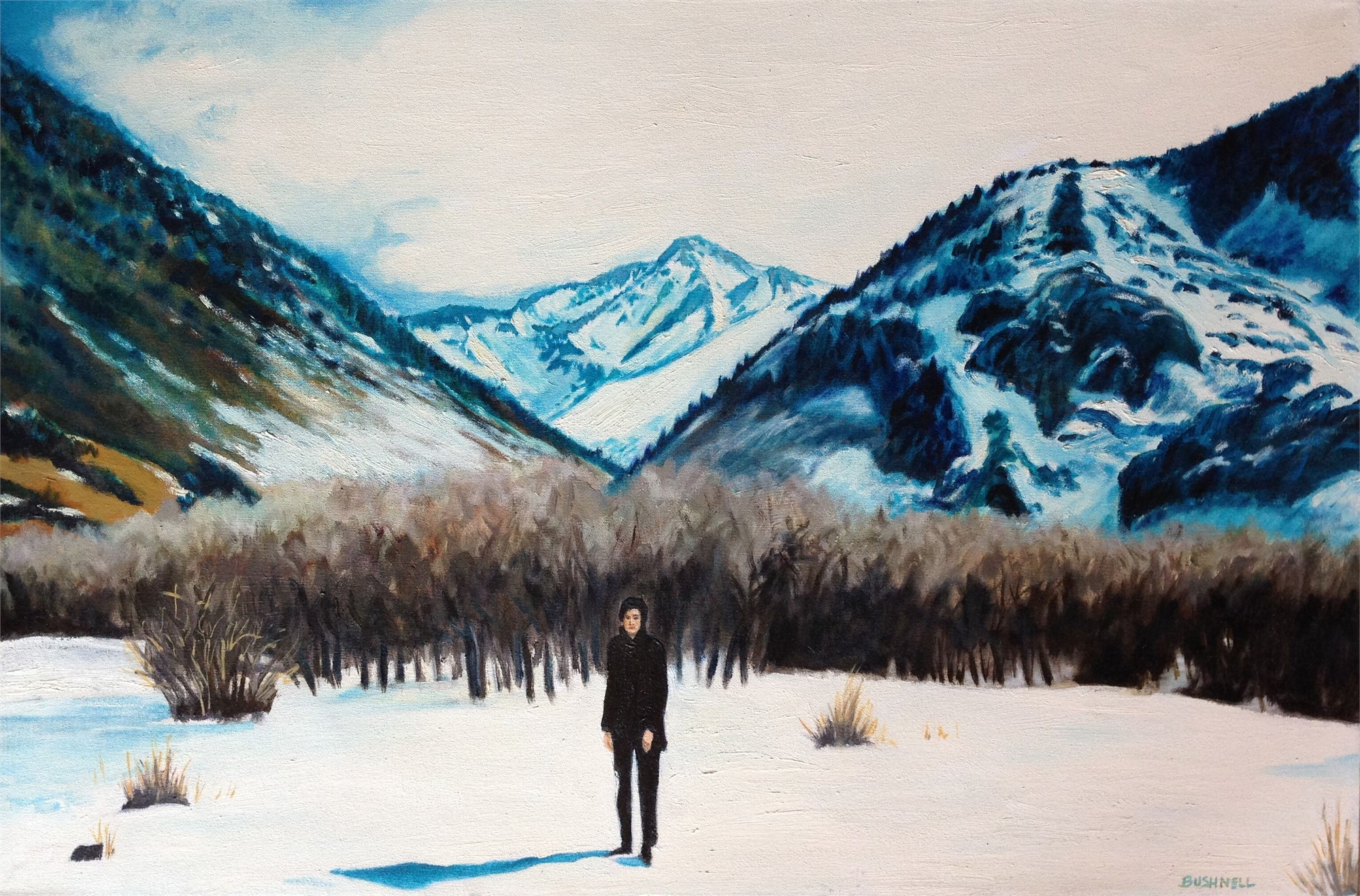 Wanderer in the Snow by Brent Bushnell