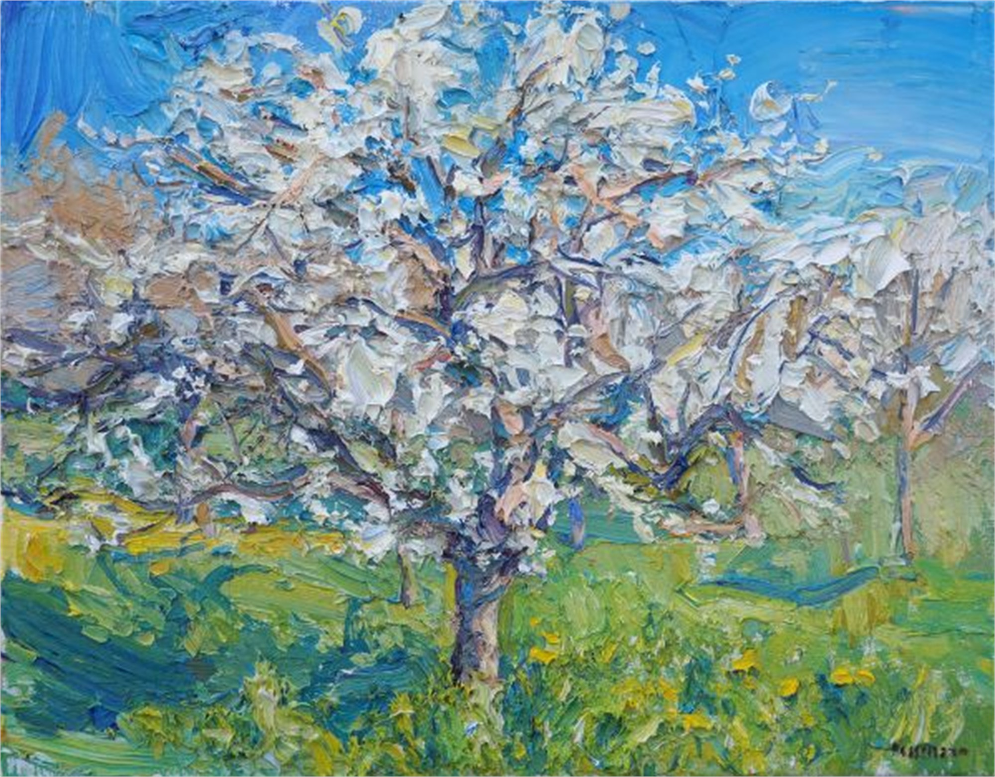 Blooming Orchard by Antonin Passemard